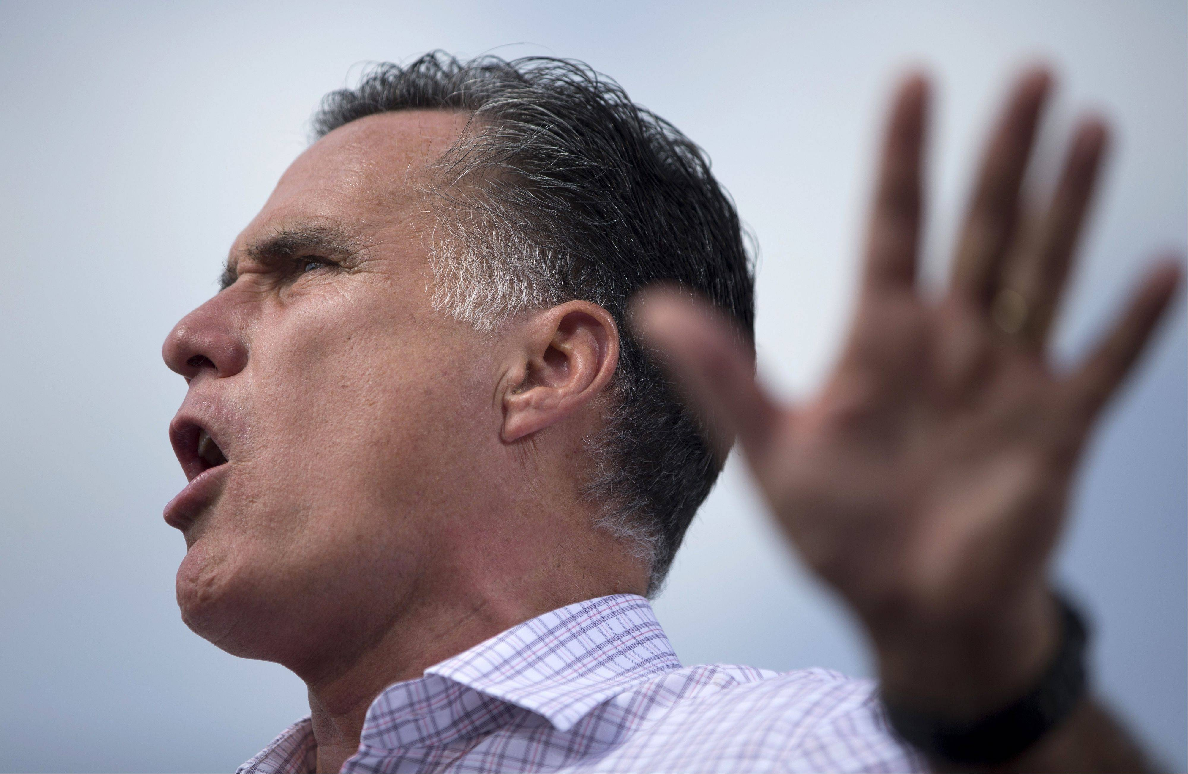Republican presidential candidate, former Massachusetts Gov. Mitt Romney speaks during a campaign stop, Friday, Aug. 31, 2012, in Lakeland, Fla.