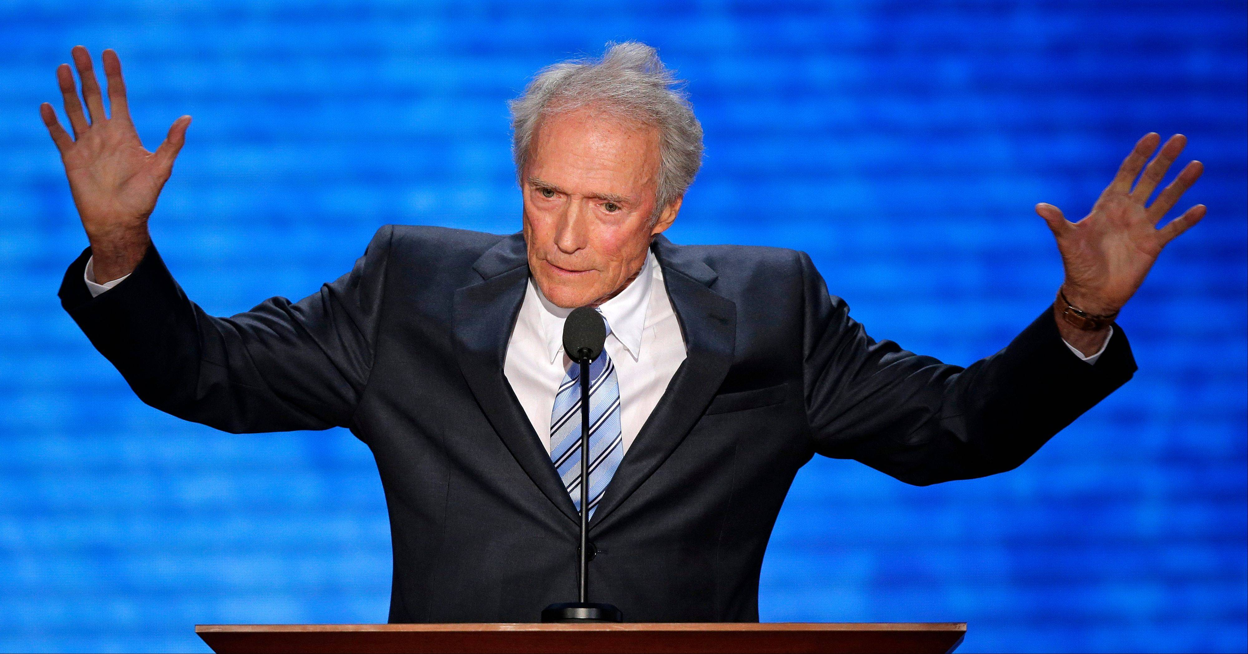 Actor Clint Eastwood addresses the Republican National Convention in Tampa, Fla., on Thursday, Aug. 30, 2012.