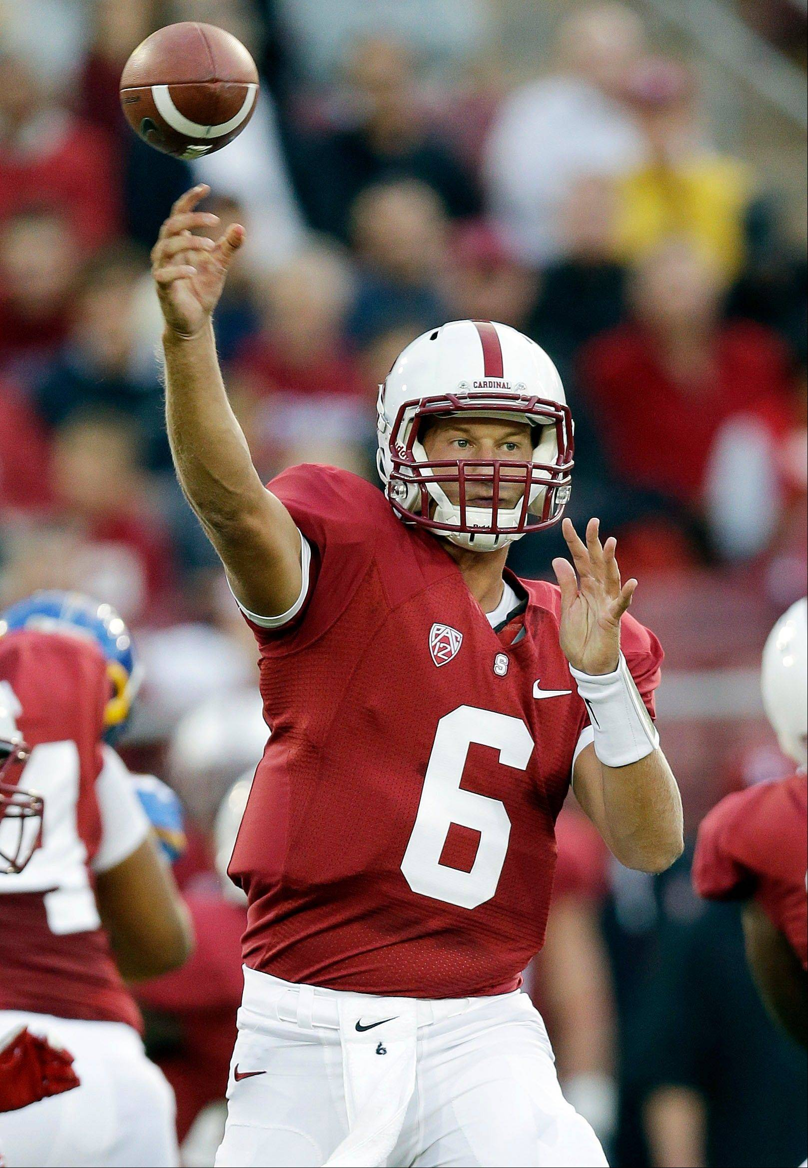 Stanford quarterback Josh Nunes struggled late in the game Friday against San Jose State.