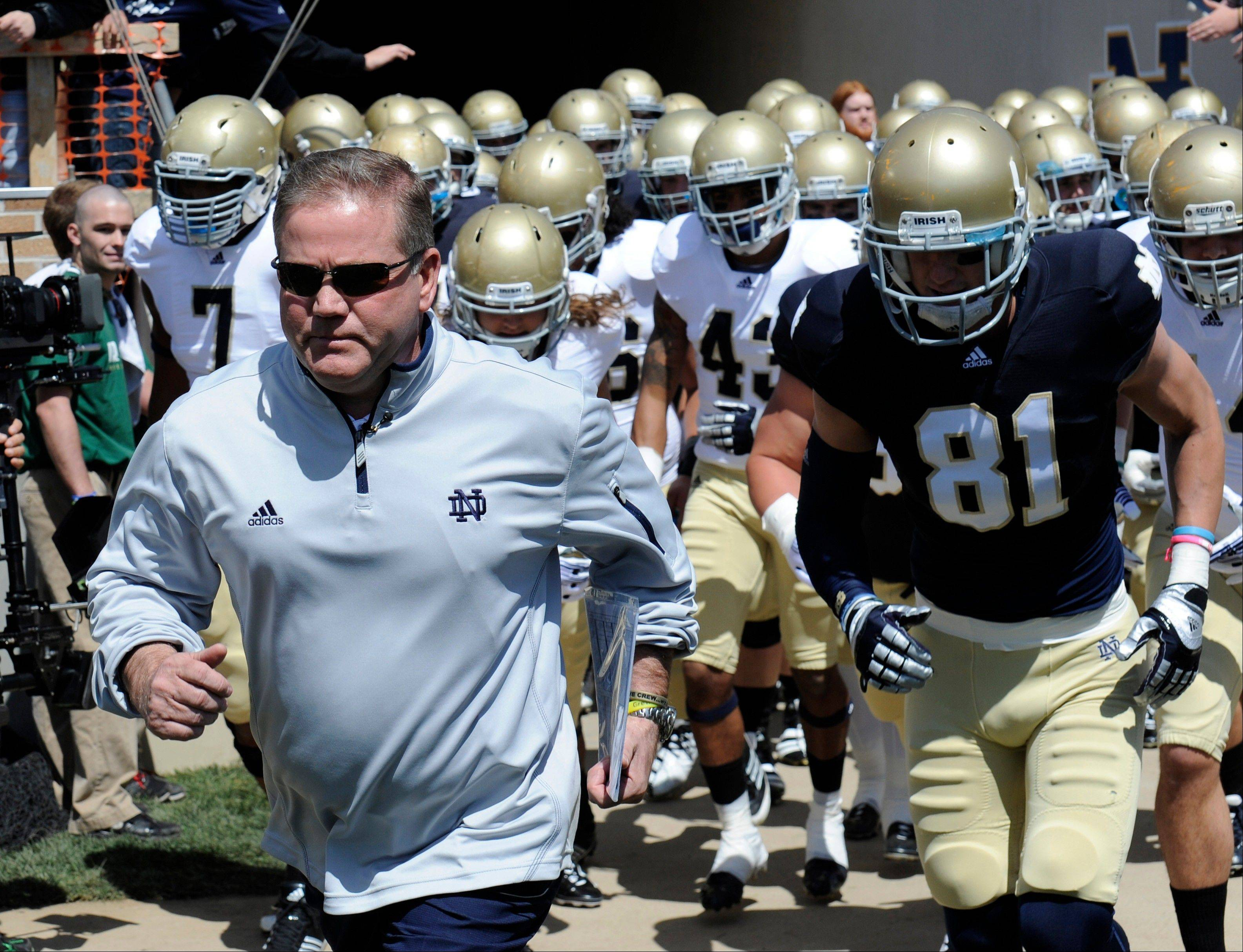 Notre Dame is preparing for their season opener in Ireland against Navy.