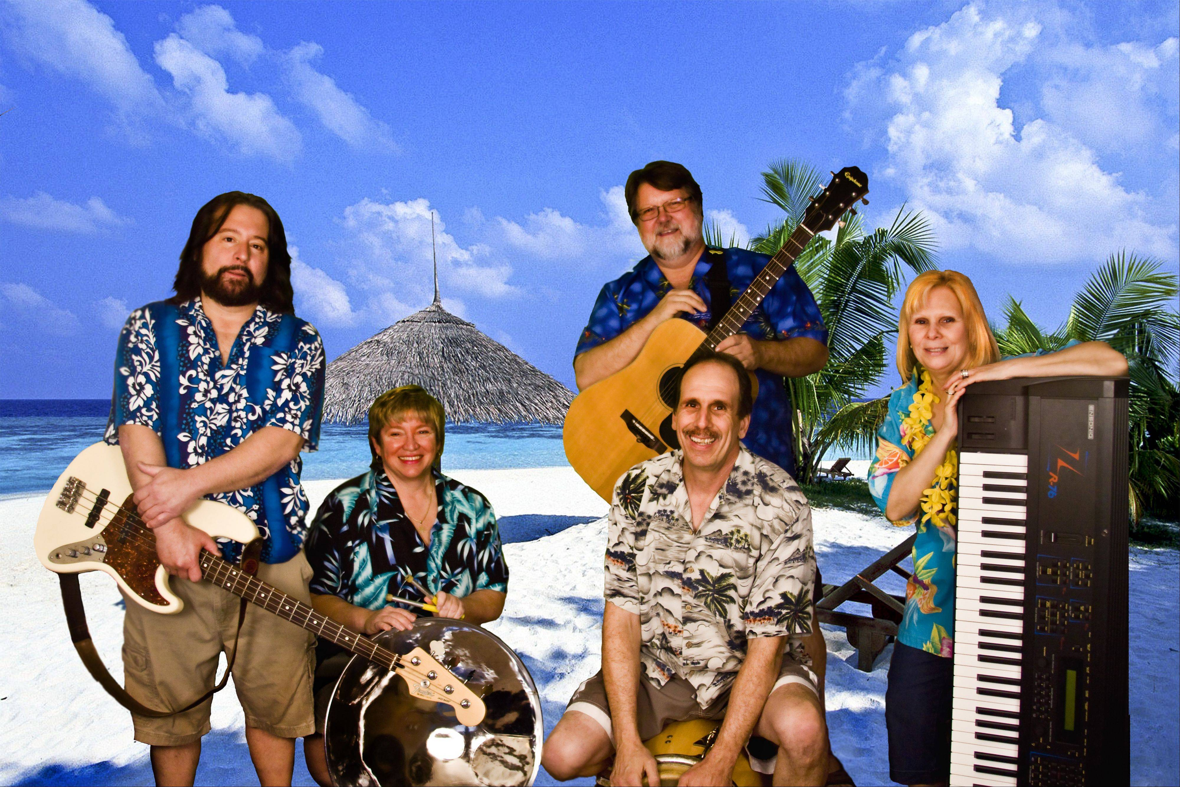 Peach's Beach Party, a Jimmy Buffett tribute band, performs at the Bartlett Park Gazebo, 4 p.m. Saturday.