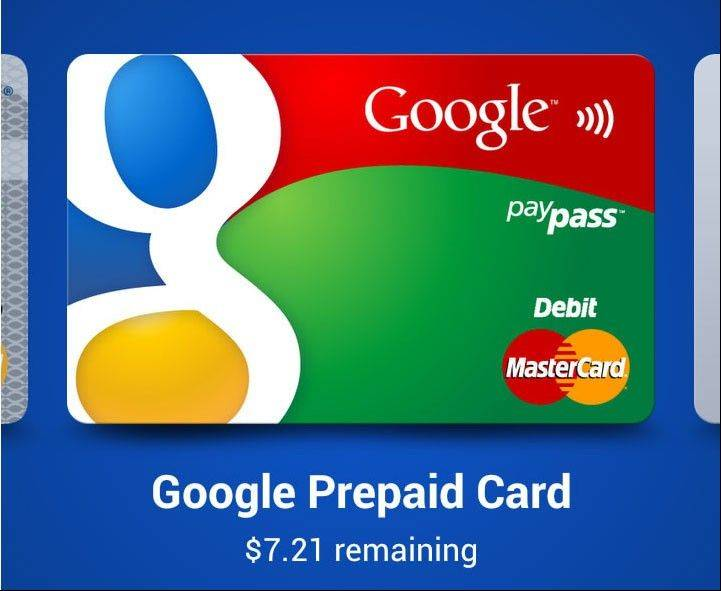 The Google Wallet application on a mobile device.