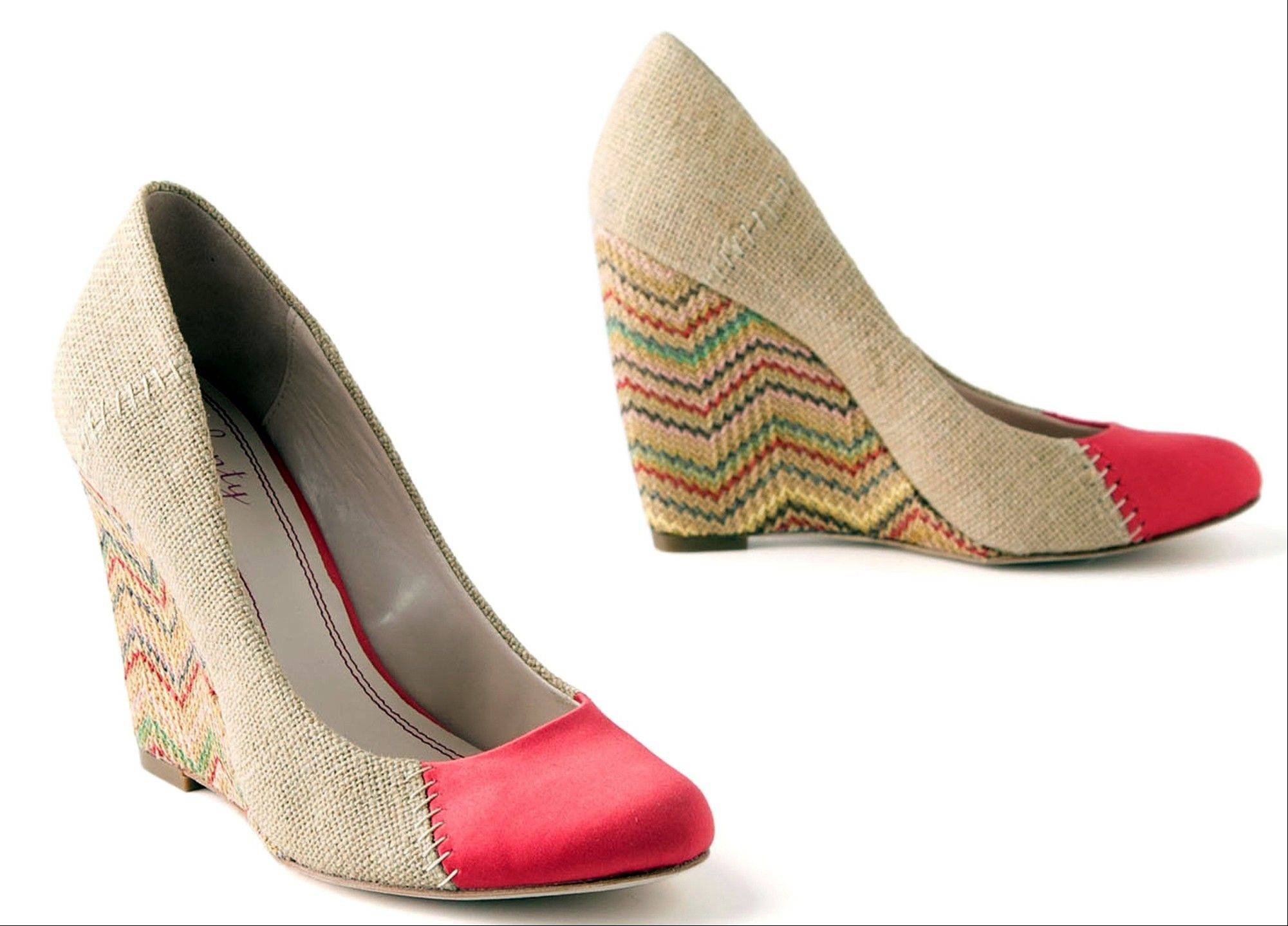 If you're not typically a pattern person, try chevrons on your feet first with these stitched chevron wedges, $130 at www.anthropologie.com.