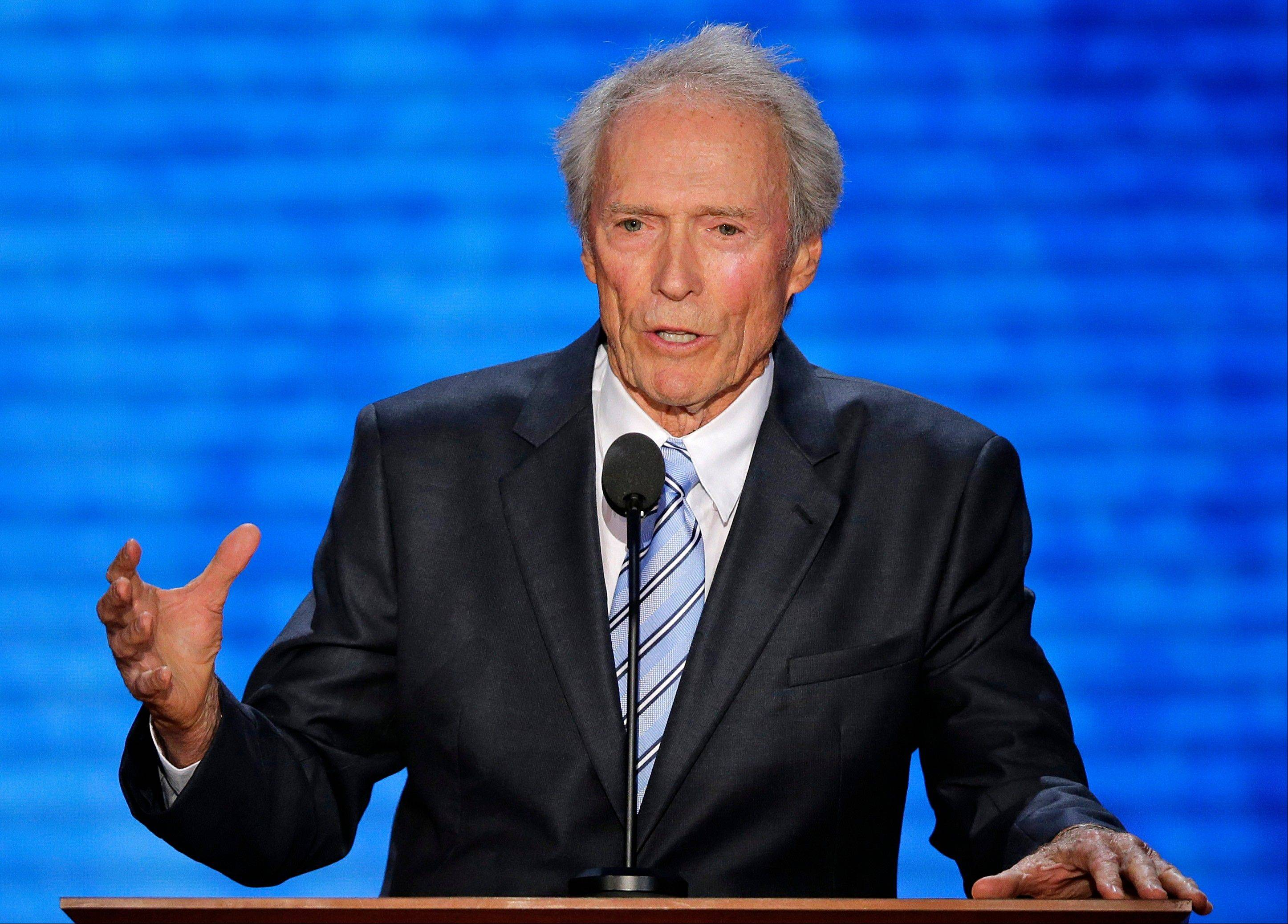 Actor Clint Eastwood addresses the Republican National Convention in Tampa, Fla., Thursday.