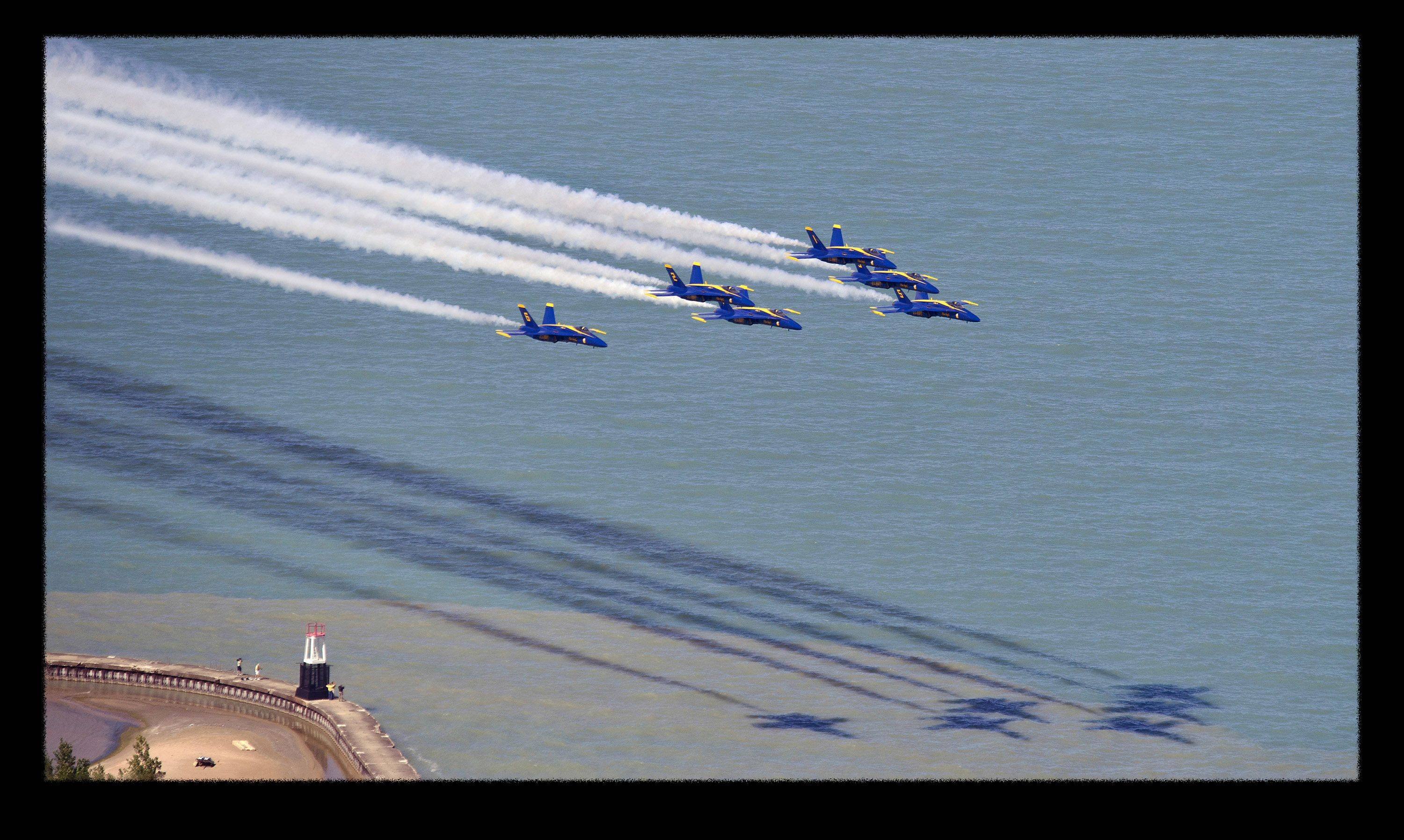 Bob Pudell of Medinah, pastor of Trinity Lutheran Church in Roselle, won our Photo Finish contest for August with his inspiring image of the Blue Angels, taken at the Chicago Air Show from the John Hancock Observatory.