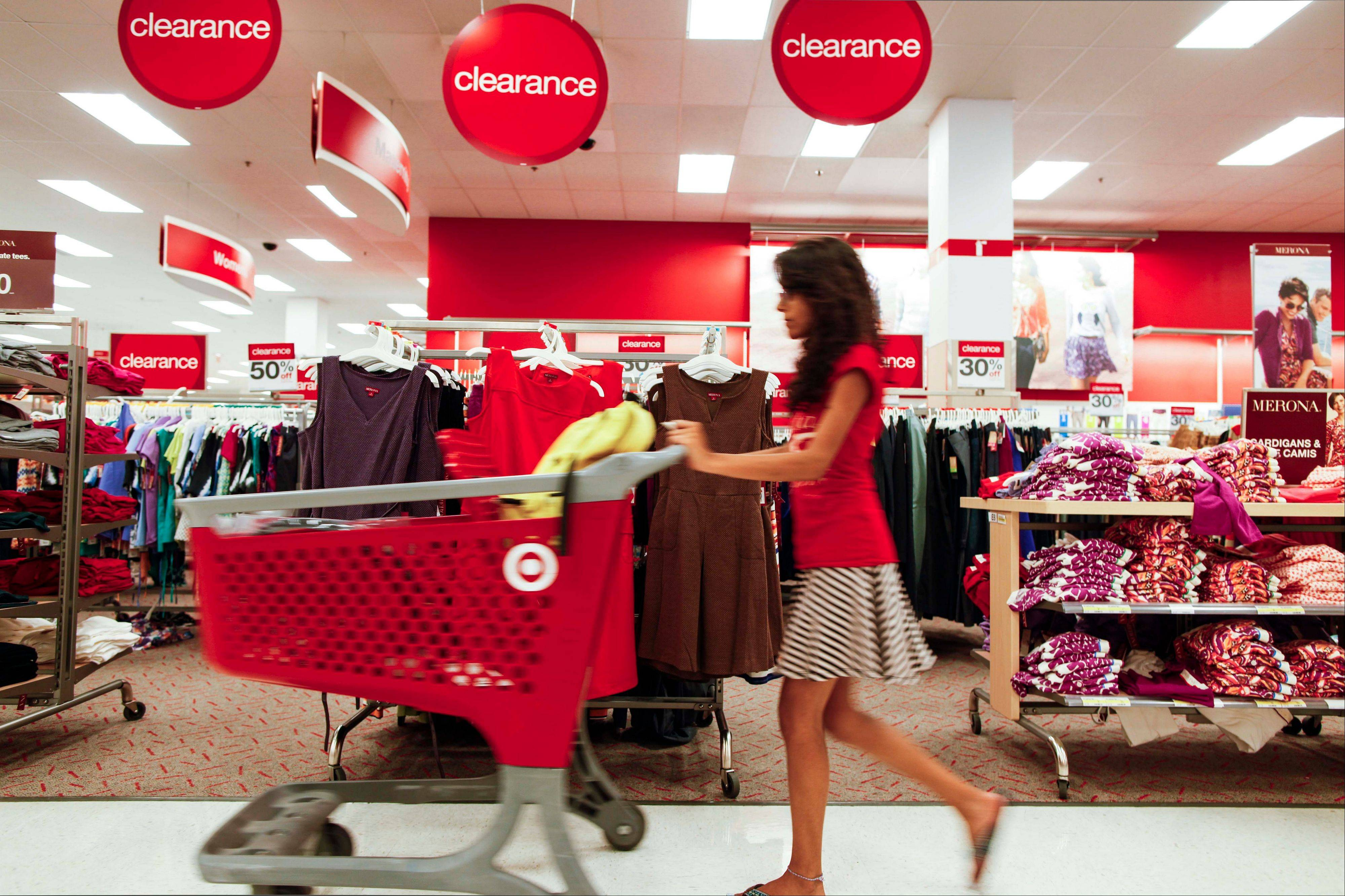 A shopper pushes a trolley through the clearance section of a store in Chicago. During the recession,