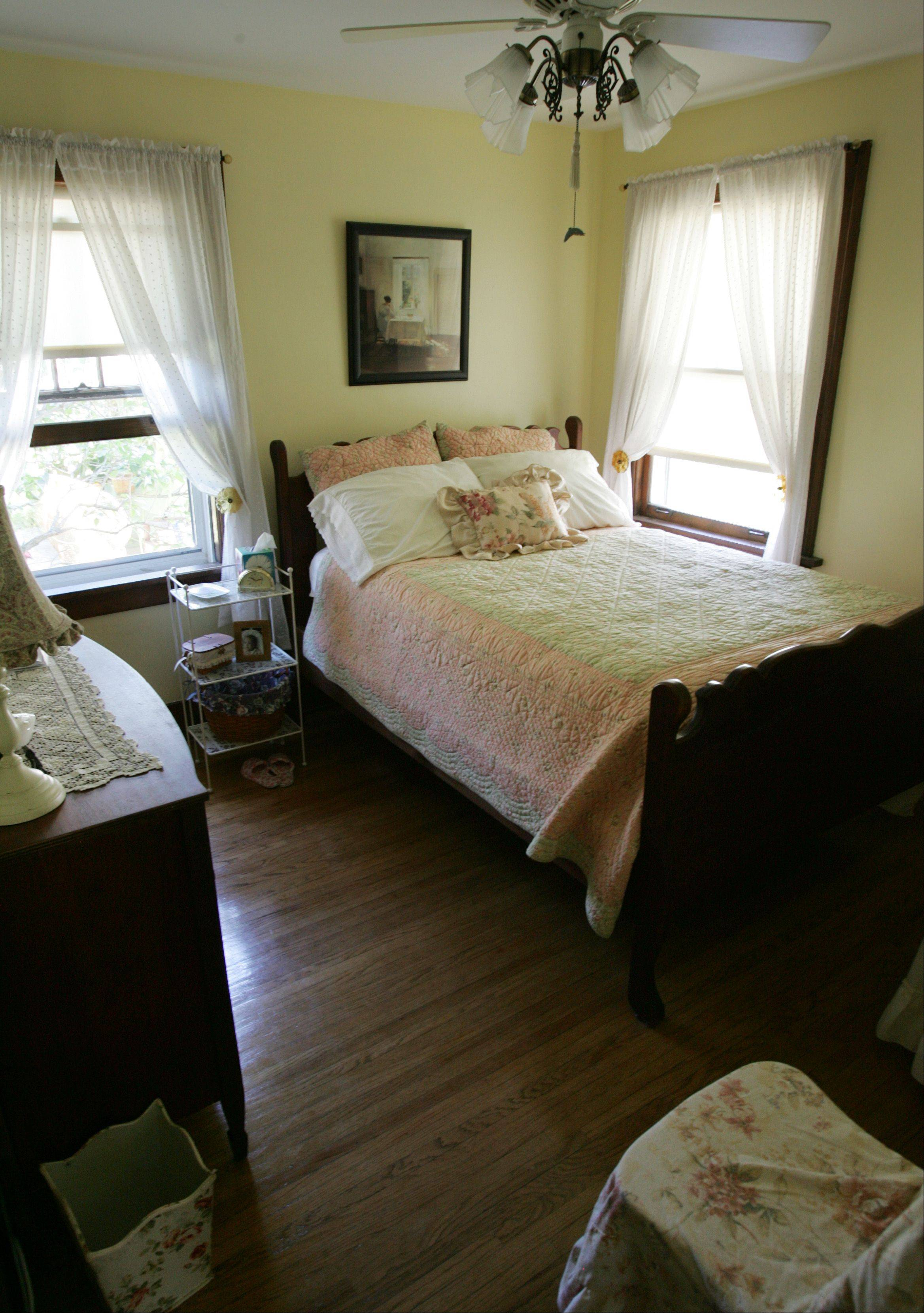 A second bedroom fills with midday sunshine at 356 Jewett St. in Elgin, part of the upcoming house tour.