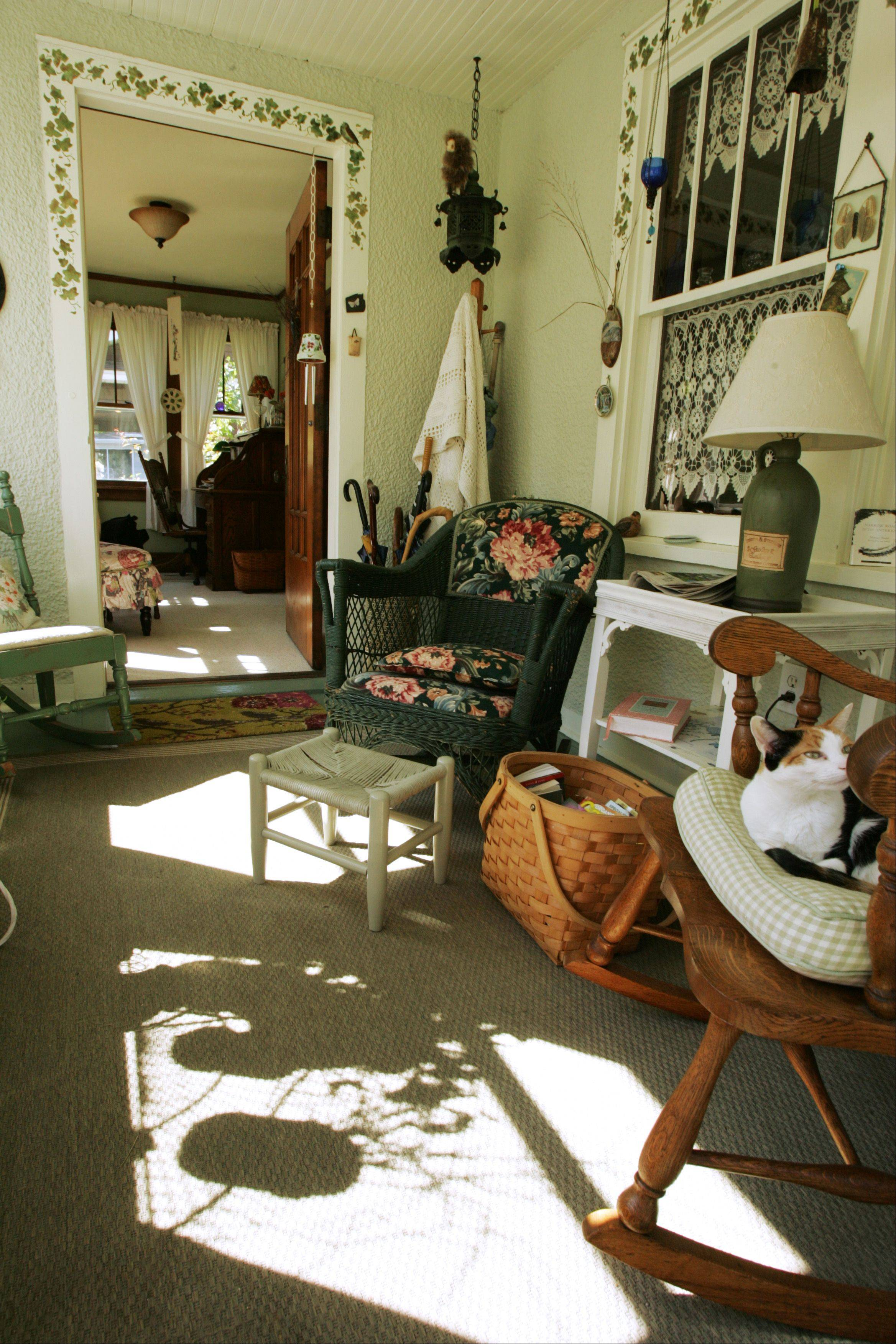 The entryway/sunroom at 356 Jewett St. in Elgin, part of the upcoming house tour.