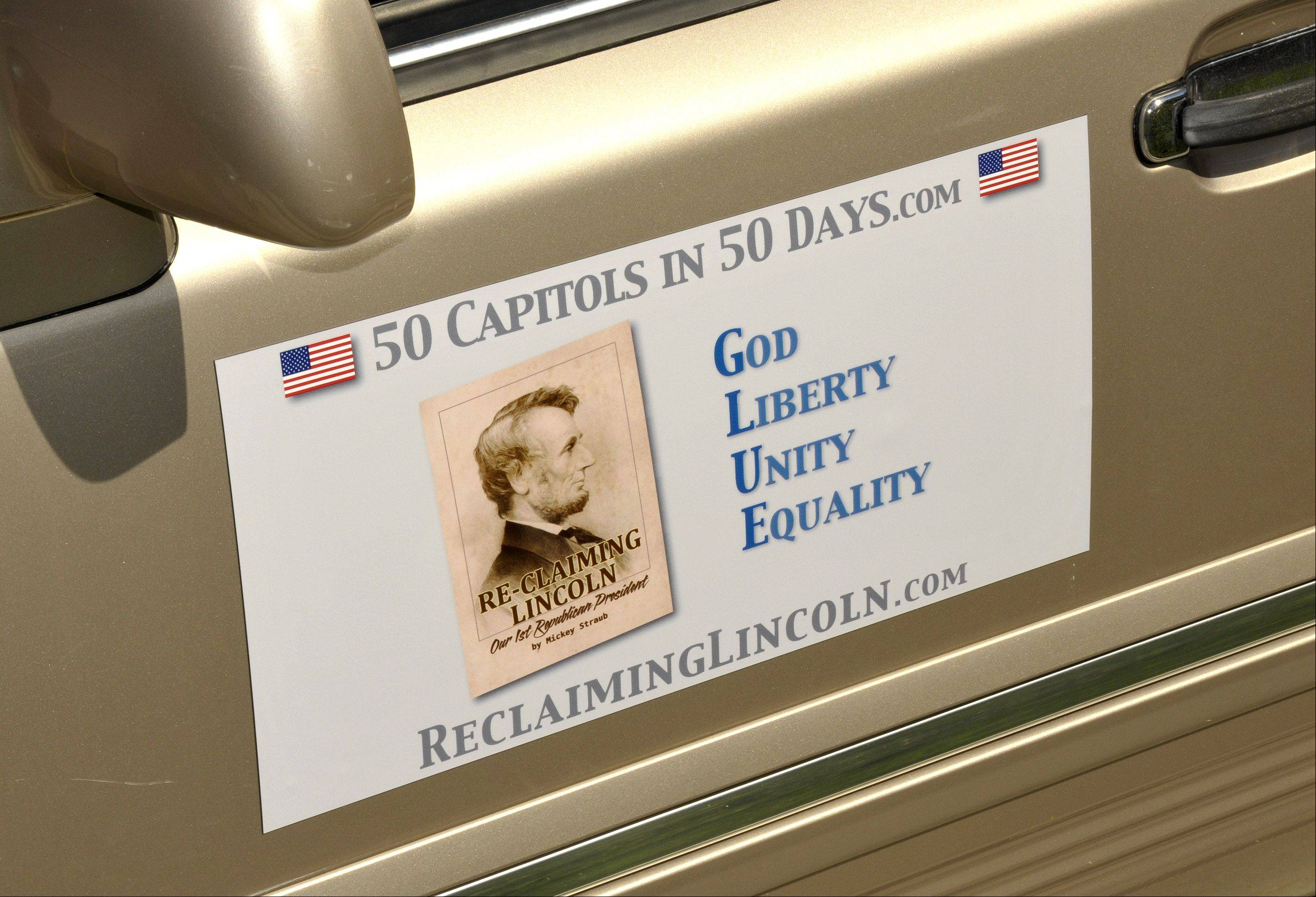 Business owner Mickey Straub is embarking on a 50-state tour to remind America of Abraham Lincoln's legacy. He'll be reading the Gettysburg Address on the steps of all 50 state capitols in 50 days.