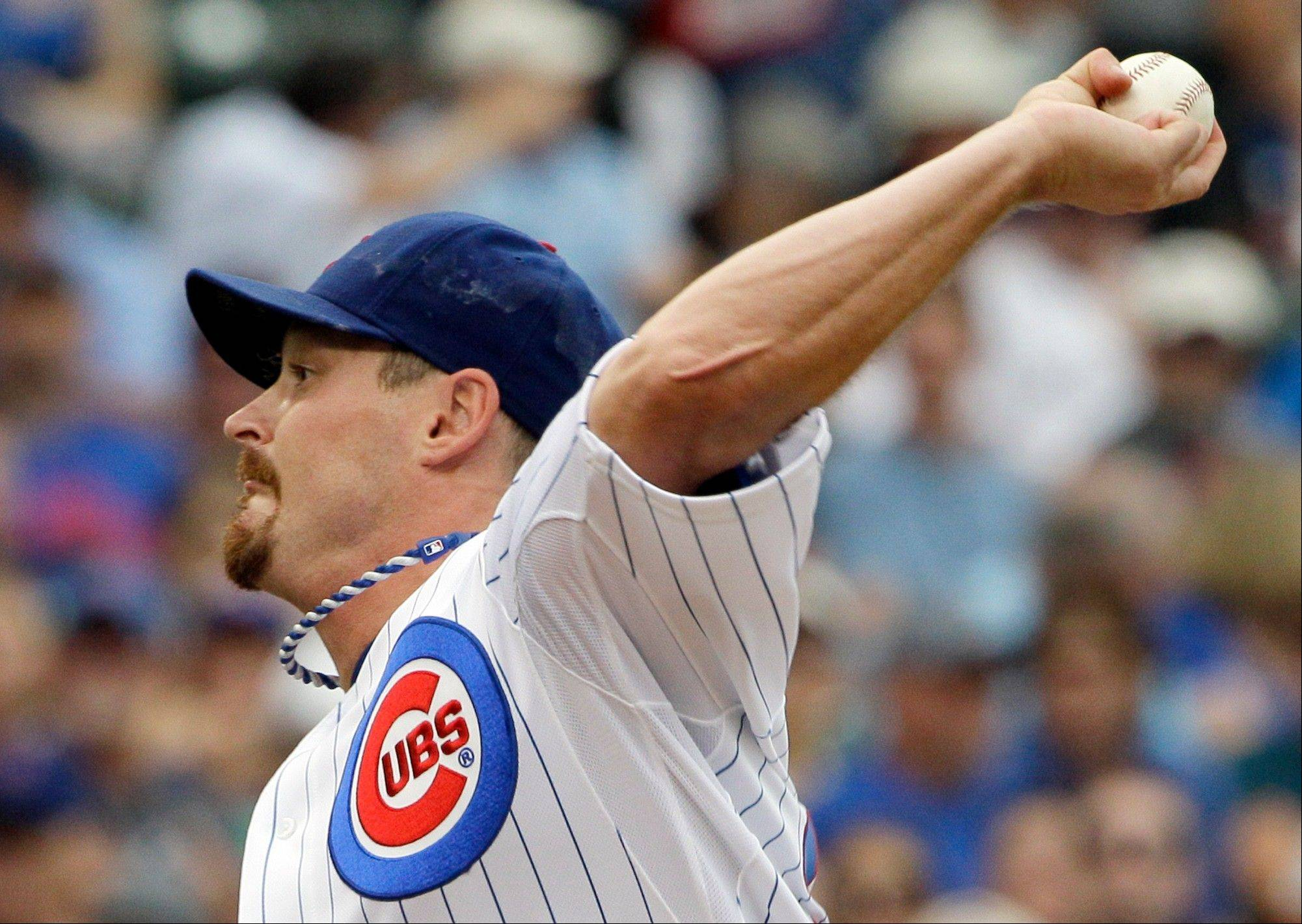 Cubs starter Travis Wood exited Sunday's game with the lead over the Giants, but he ended up with a no-decision.