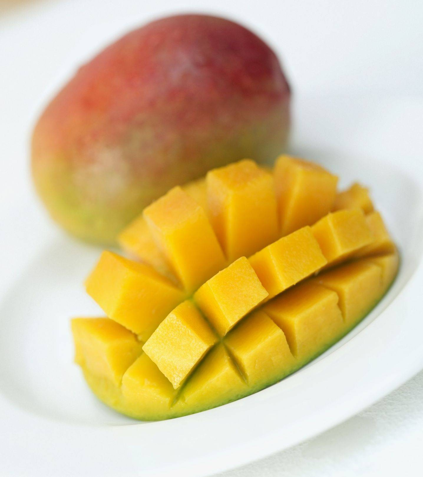 Mangoes used in sorbet provide fiber and important nutrients like vitamins A and C.