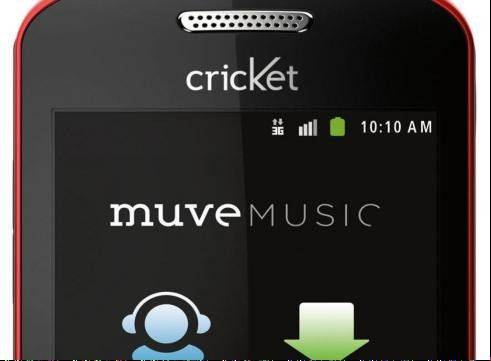 Mobile phone carrier Cricket is making its unlimited music service, Muve Music, an exclusive feature of its higher-end phones.