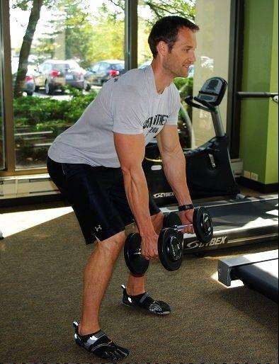 Bent-over row, step 1