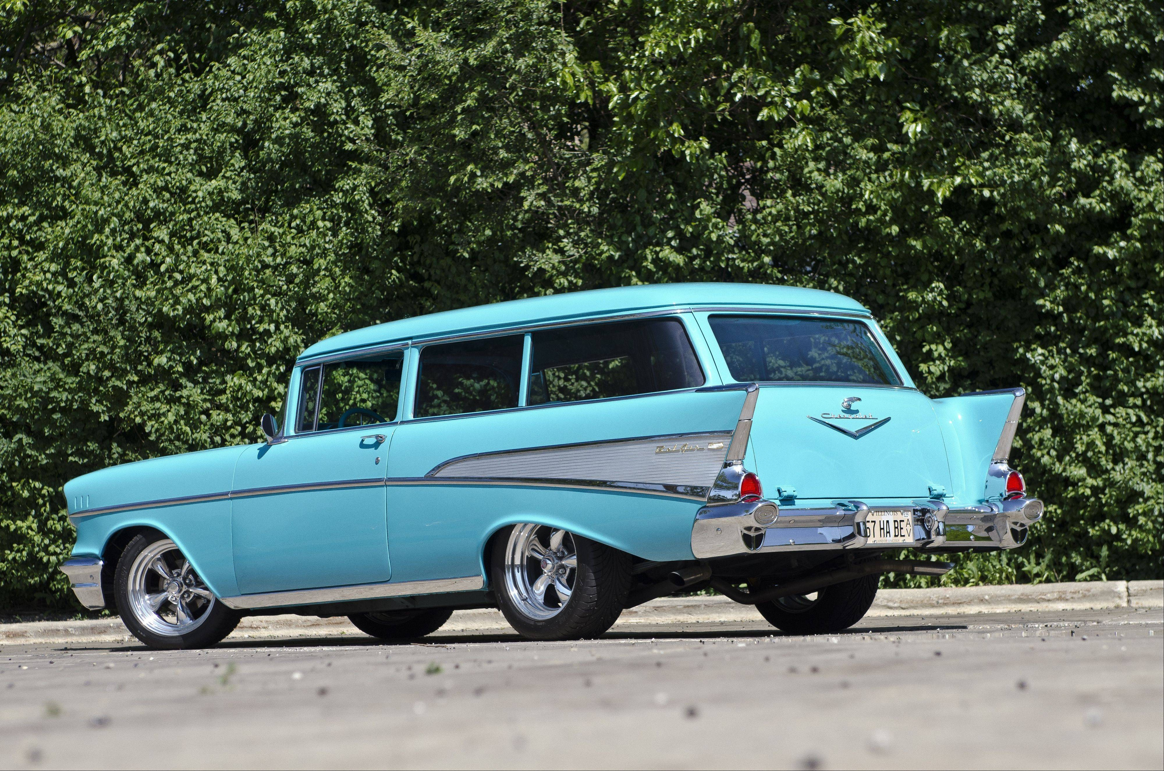 Skip Gallagher of Palatine customized this 1957 Chevrolet 210 wagon just to his liking.