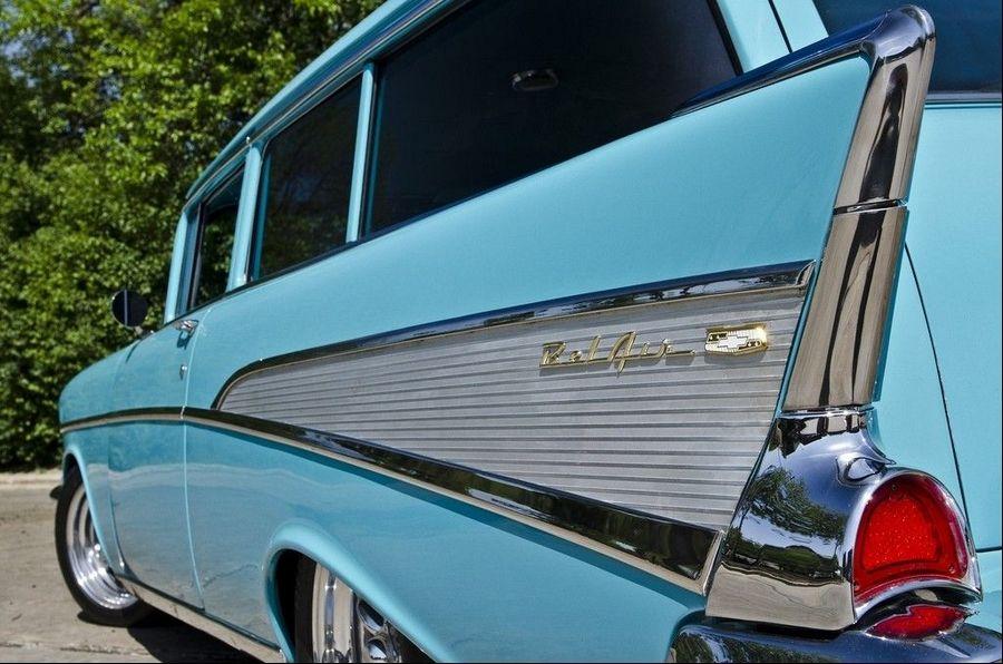 Palatine man customizes 1957 Chevrolet 210 wagon