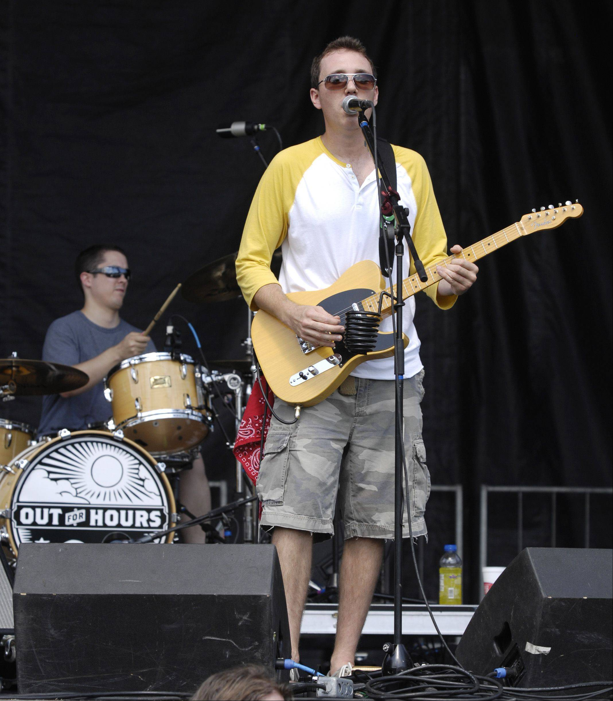 """Out For Hours"" performs on the main stage during the last day of the annual Last Fling festival in Naperville on Monday."
