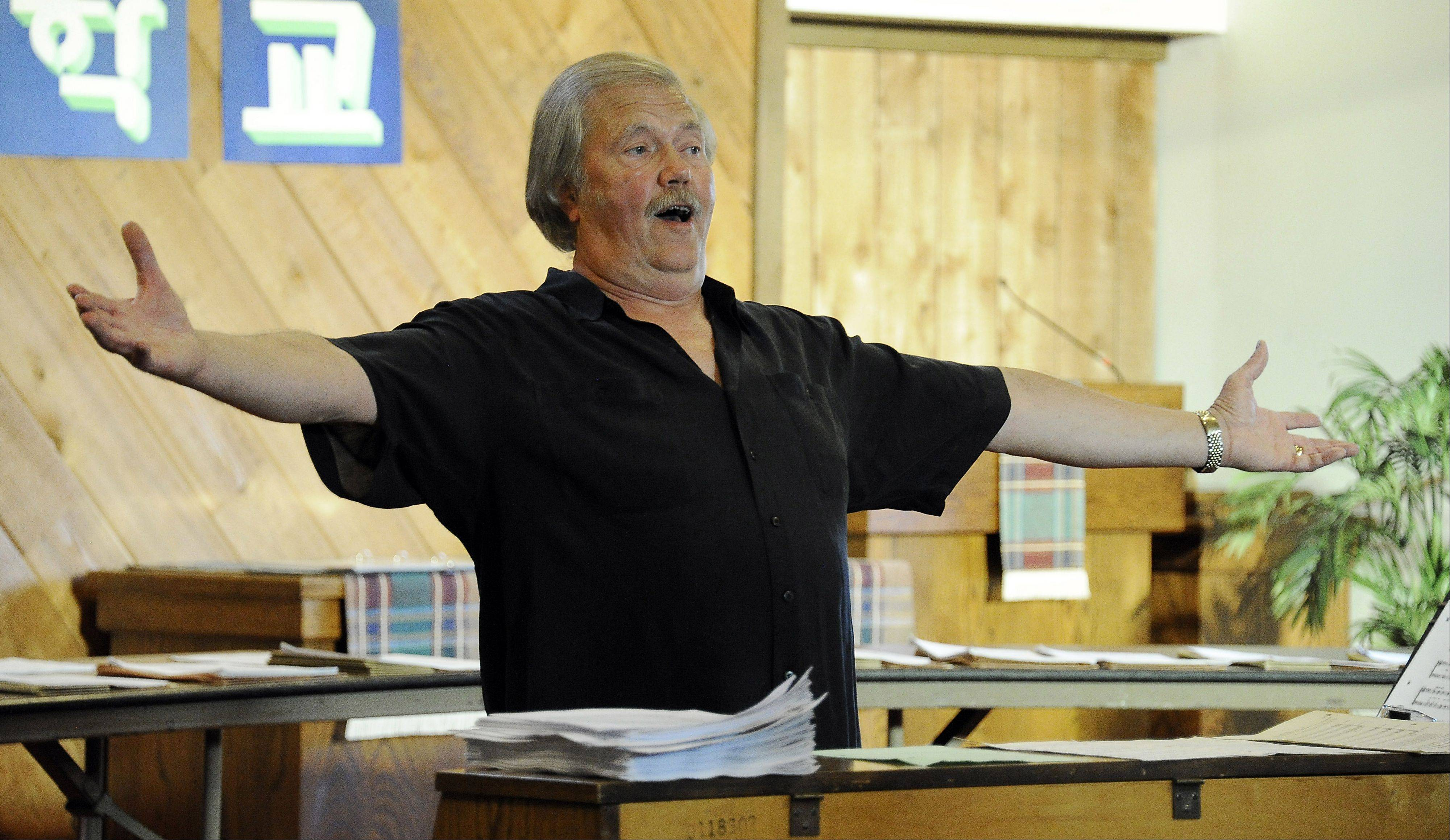 Jerry Swanson of Elk Grove Village is coming out of retirement to direct members of his District 214 chorale groups in a November concert.