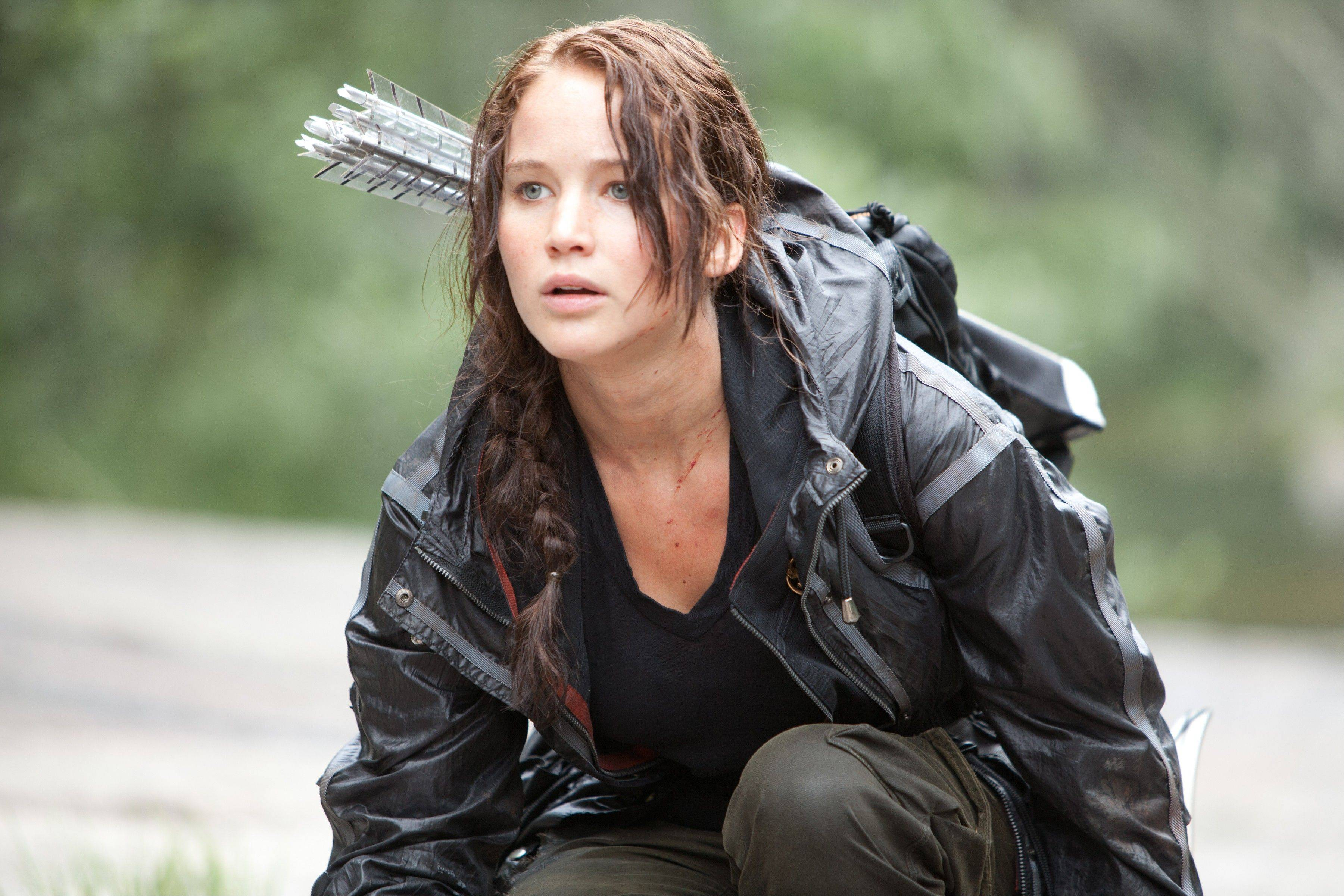 "Jennifer Lawrence portrays Katniss Everdeen in a scene from ""The Hunger Games."" The movie is among those Amazon can now stream after having acquired rights to the Epix library of about 2,000 movies,"
