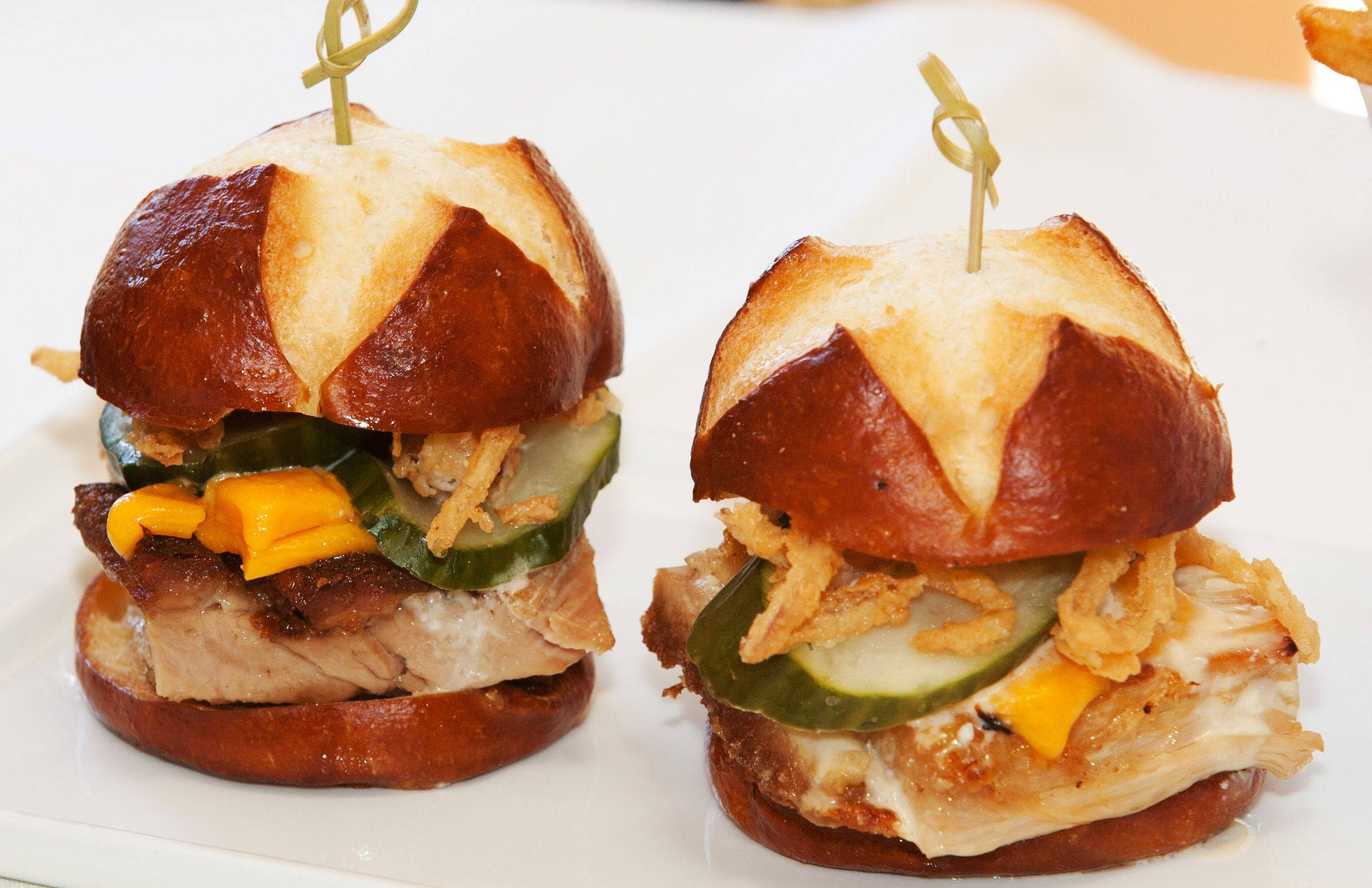 Chef Troy Tornabeni's pork belly confit sliders have replaced pulled pork sandwiches as a favorite at Stonebridge Country Club in Aurora.
