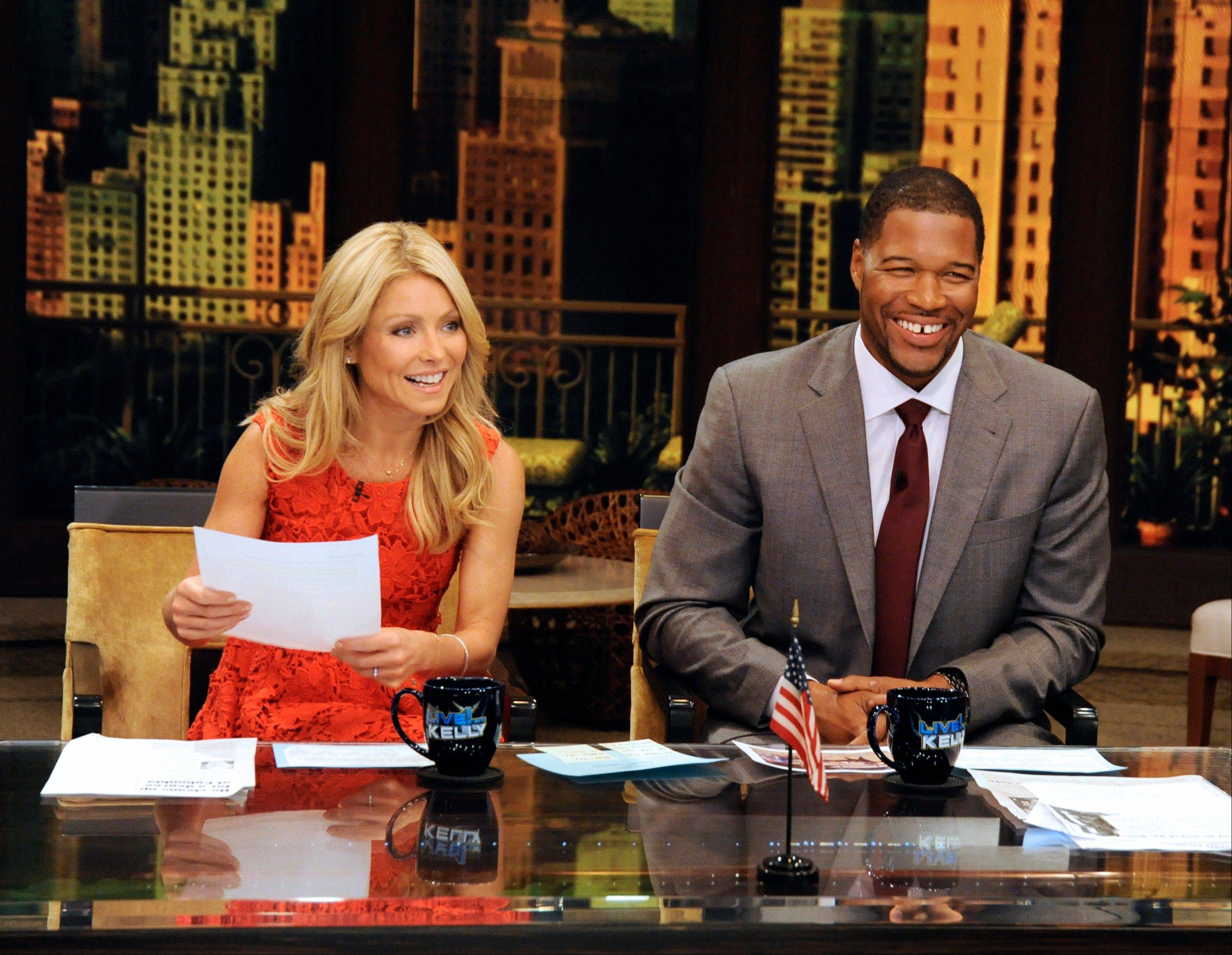 "Former NFL player Michael Strahan is getting a permanent job in morning television as Kelly Ripa's co-host. Strahan replaces Regis Philbin on the syndicated ""Live! With Kelly"" show, adding his name to the title."