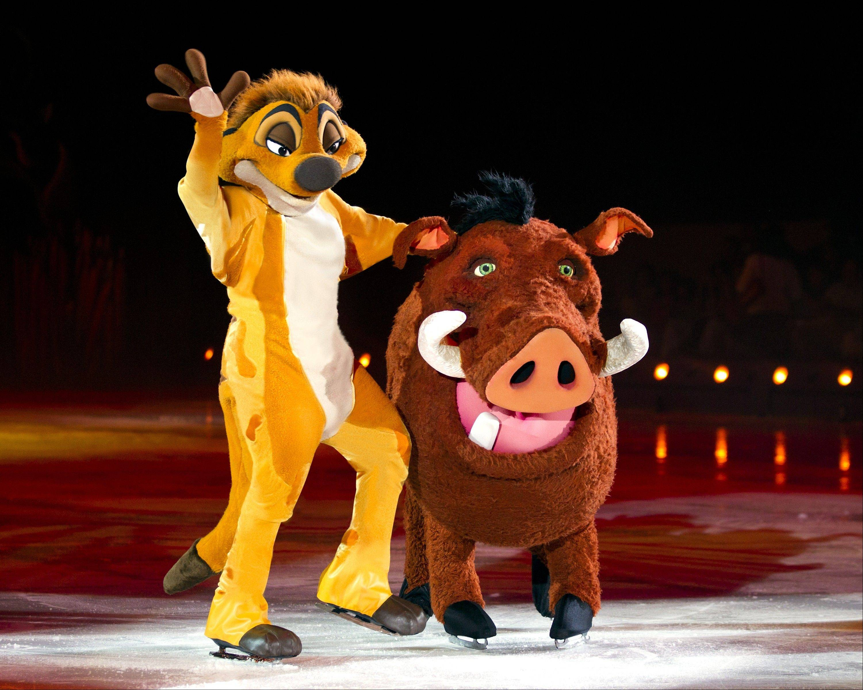 "Timon and Pumba from the 1994 Disney animated film ""The Lion King"" are set to make an appearance in the touring arena show Disney On Ice presents ""Treasure Trove,"" coming to the Allstate Arena in Rosemont from Thursday to Sunday, Sept. 13-16."