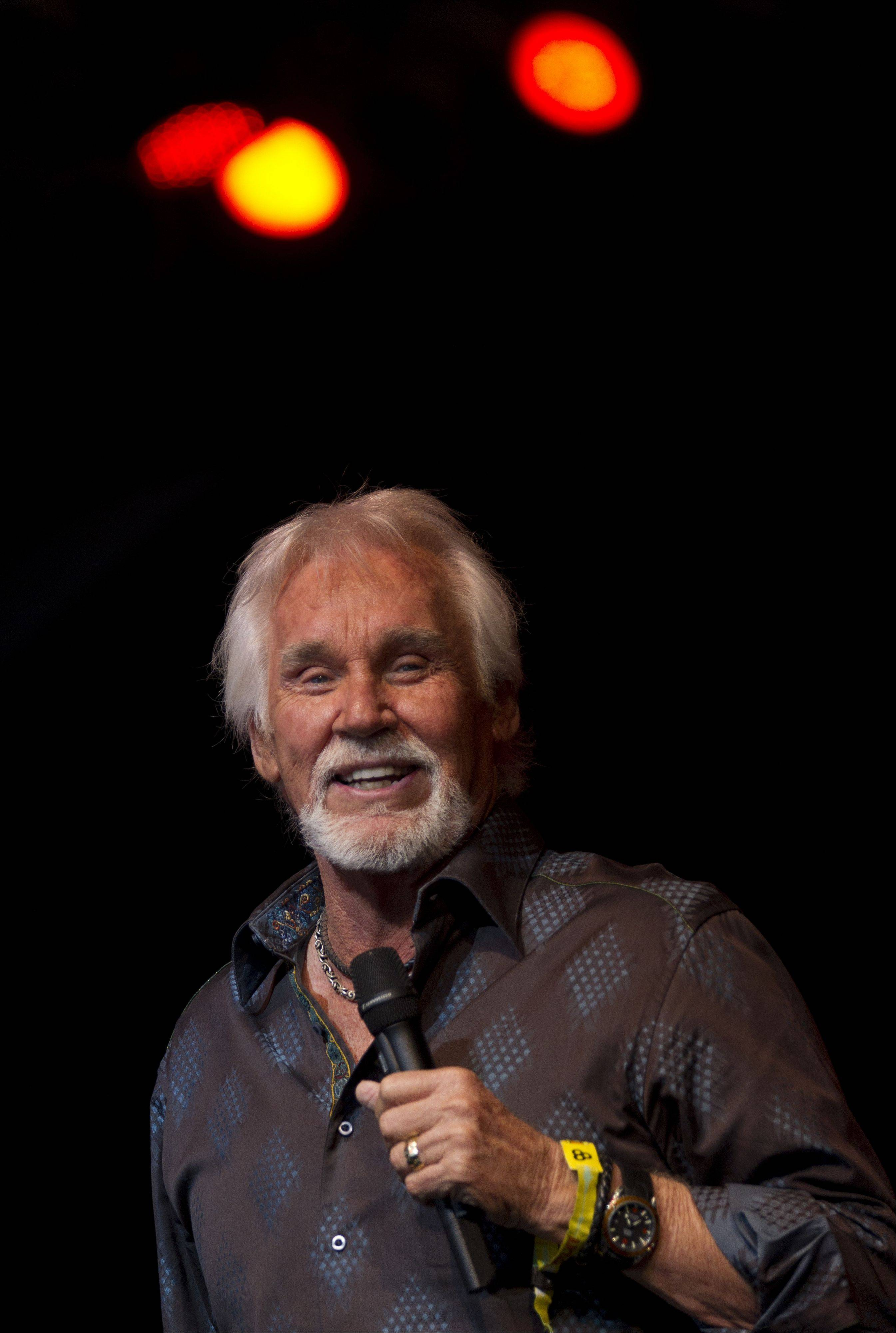 Kenny Rogers will perform at the Arcada Theatre in St. Charles.