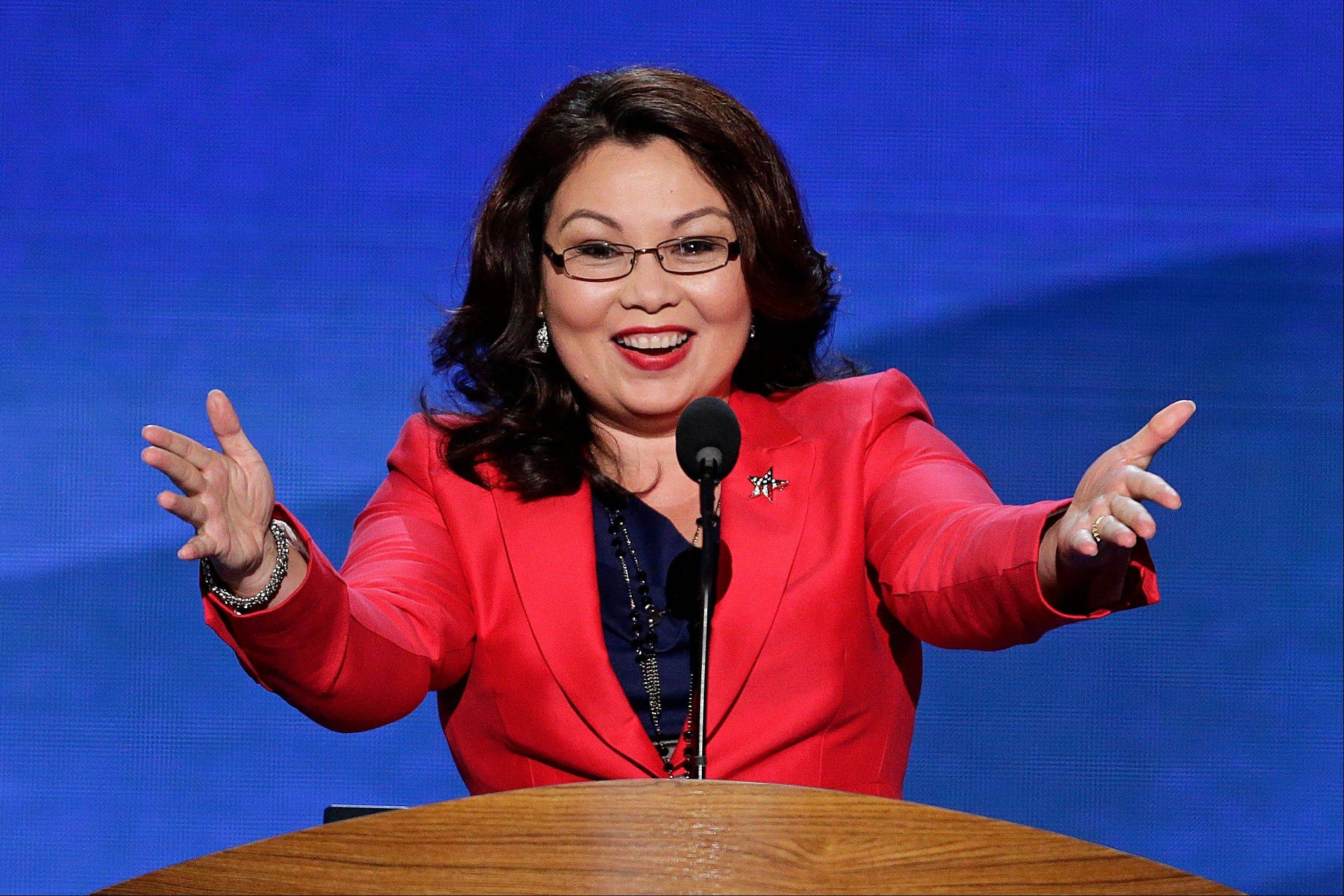 Former Assistant Secretary, U.S. Department of Veterans Affairs Tammy Duckworth addresses the Democratic National Convention in Charlotte, N.C., on Tuesday, Sept. 4, 2012.
