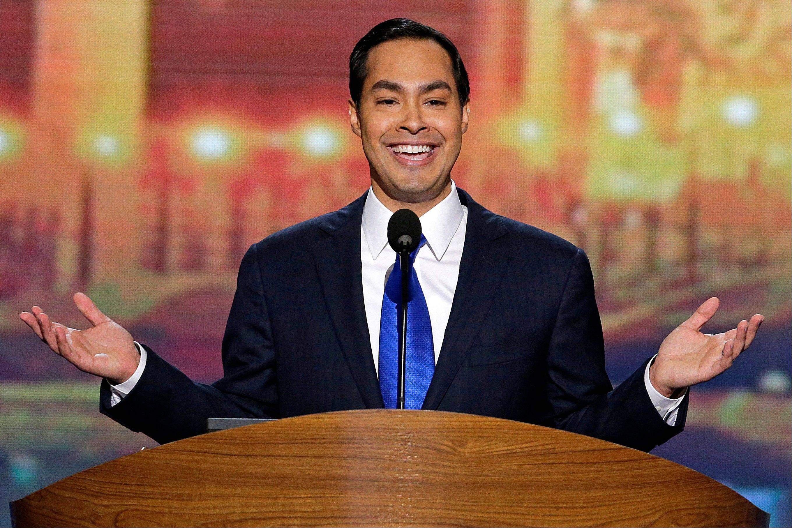 San Antonio Mayor Julian Castro delivers the keynote address at the Democratic National Convention in Charlotte, N.C., Tuesday.
