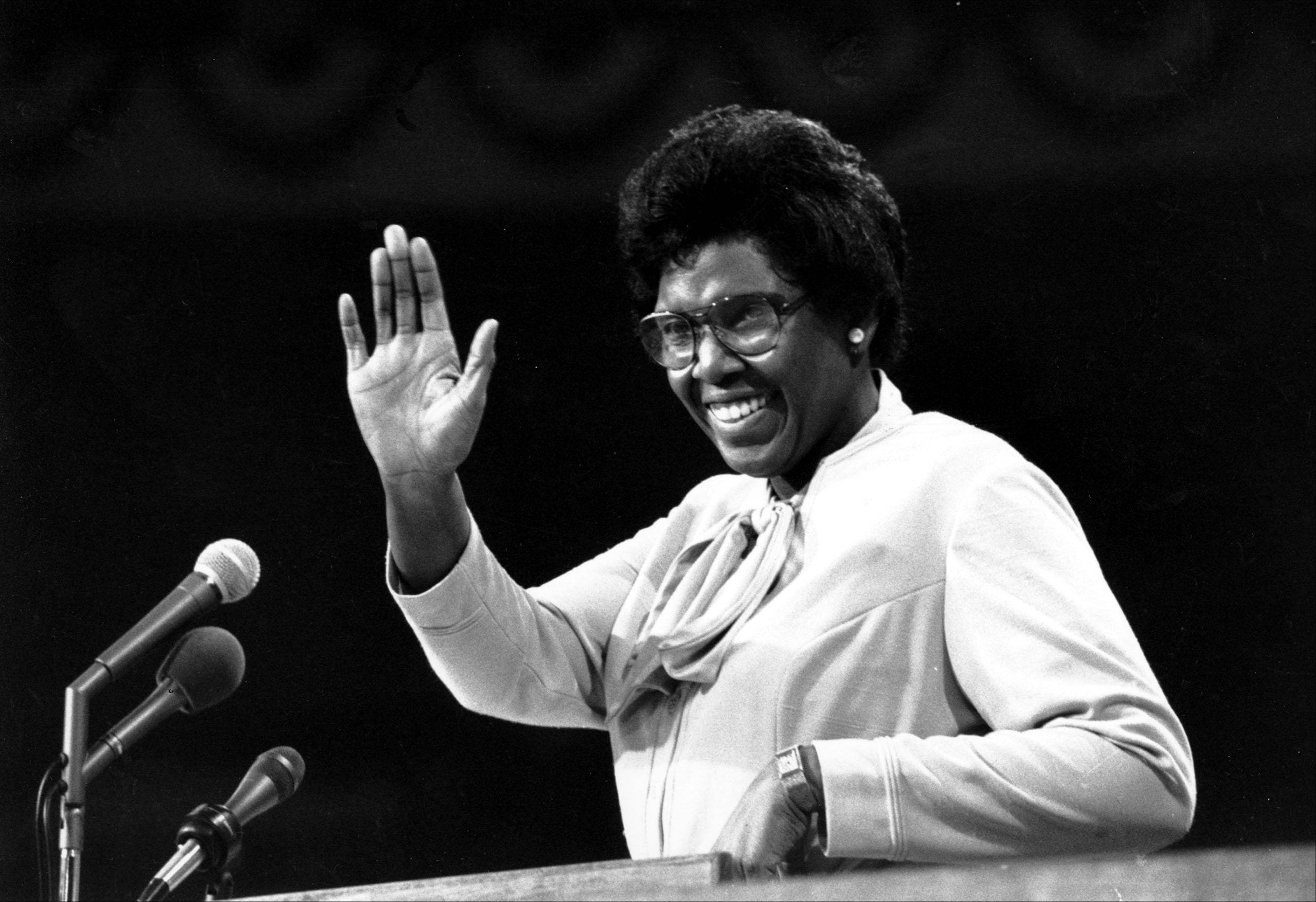 "In 1976, Rep. Barbara Jordan of Texas became the first black and first woman to deliver the Democratic Party's keynote address: ""My presence here is one additional bit of evidence that the American Dream need not be forever deferred,"" she said."