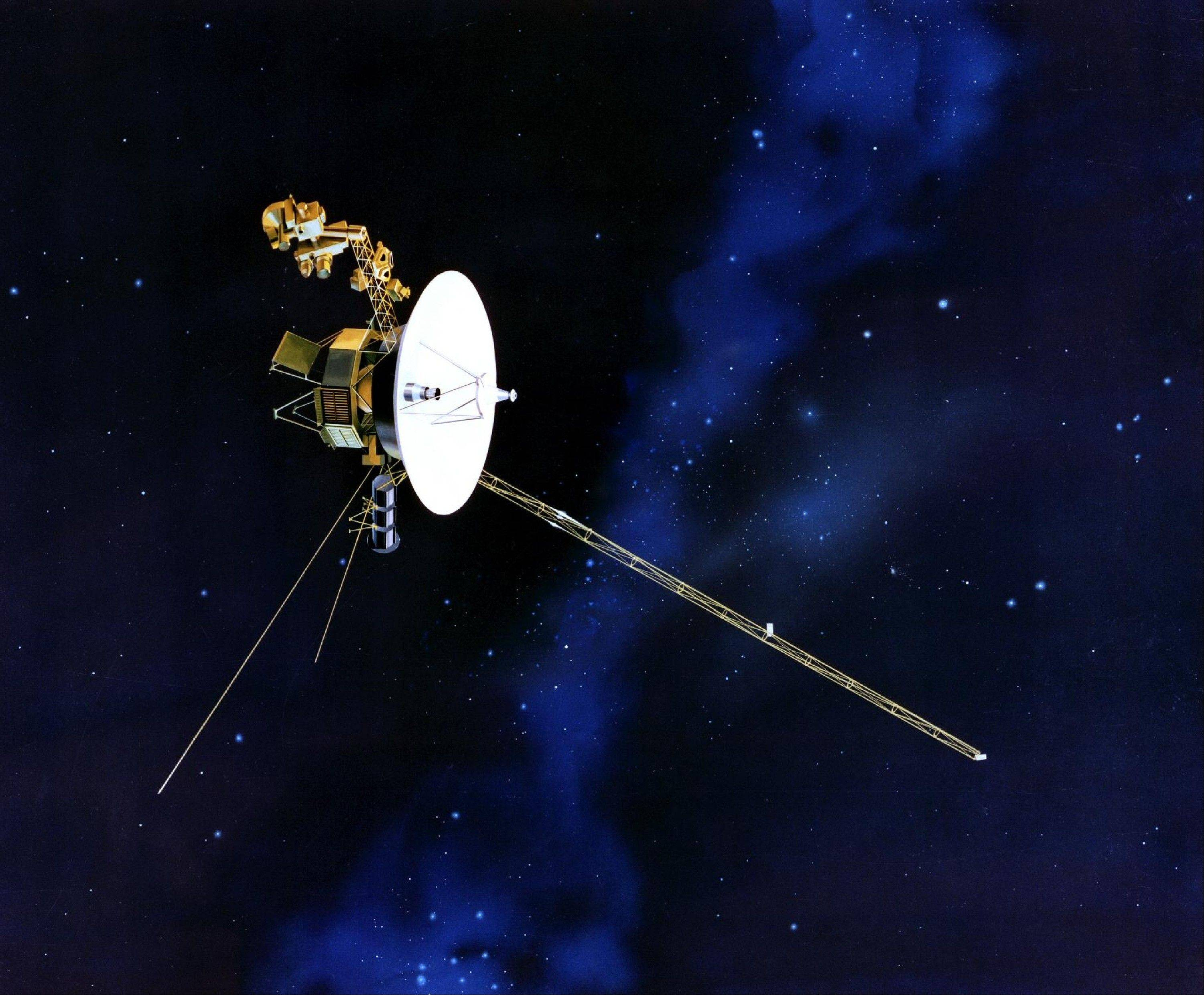 This artist's rendering provided by NASA shows the Voyager spacecraft. Launched in 1977, the twin spacecraft are exploring the edge of the solar system.