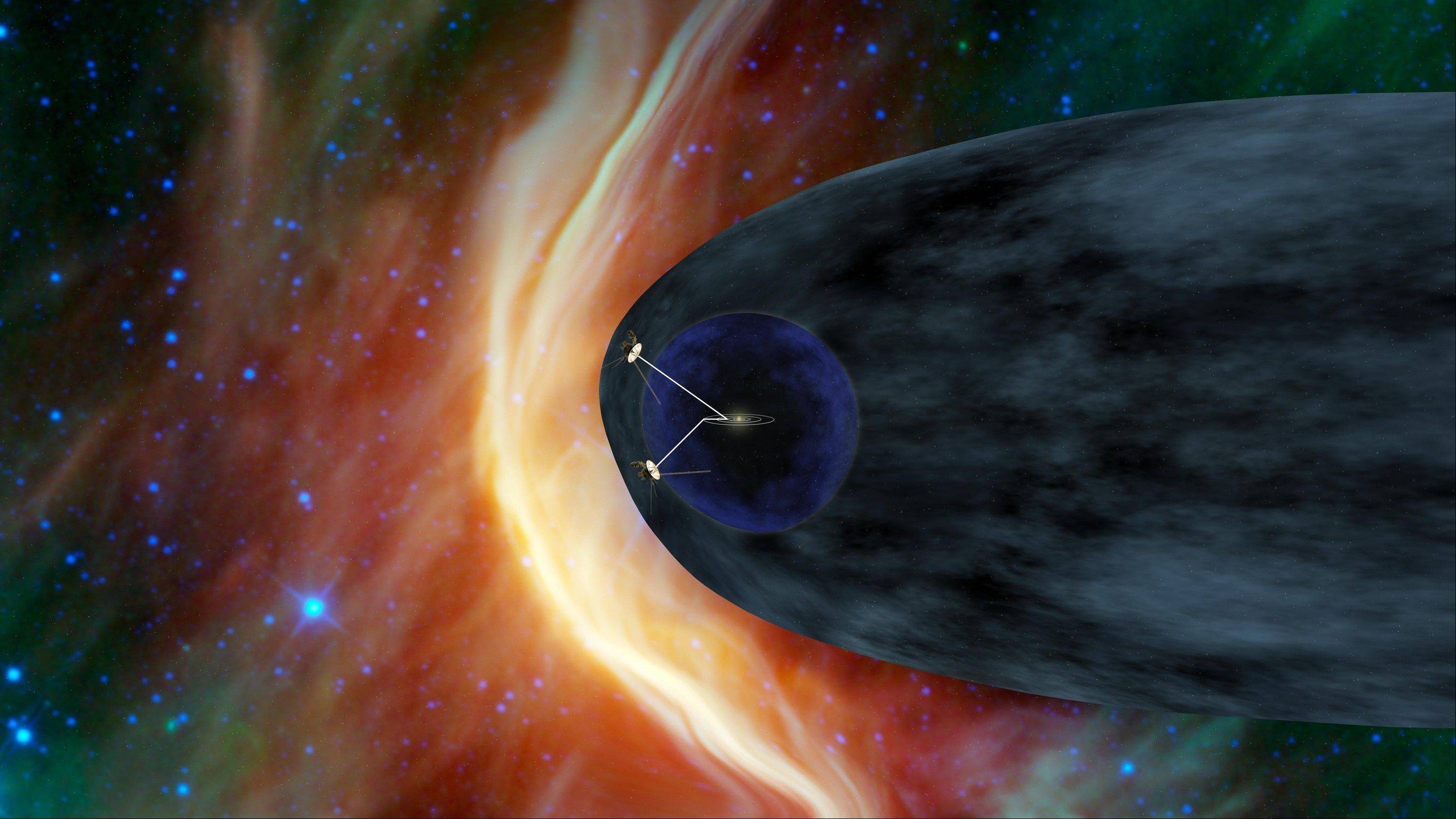 This artist's rendering provided by NASA shows This image shows the Voyager spacecraft barreling away from the sun. Launched in 1977, the twin spacecraft are exploring the edge of the solar system. Voyager 1 is poised to cross into interstellar space.
