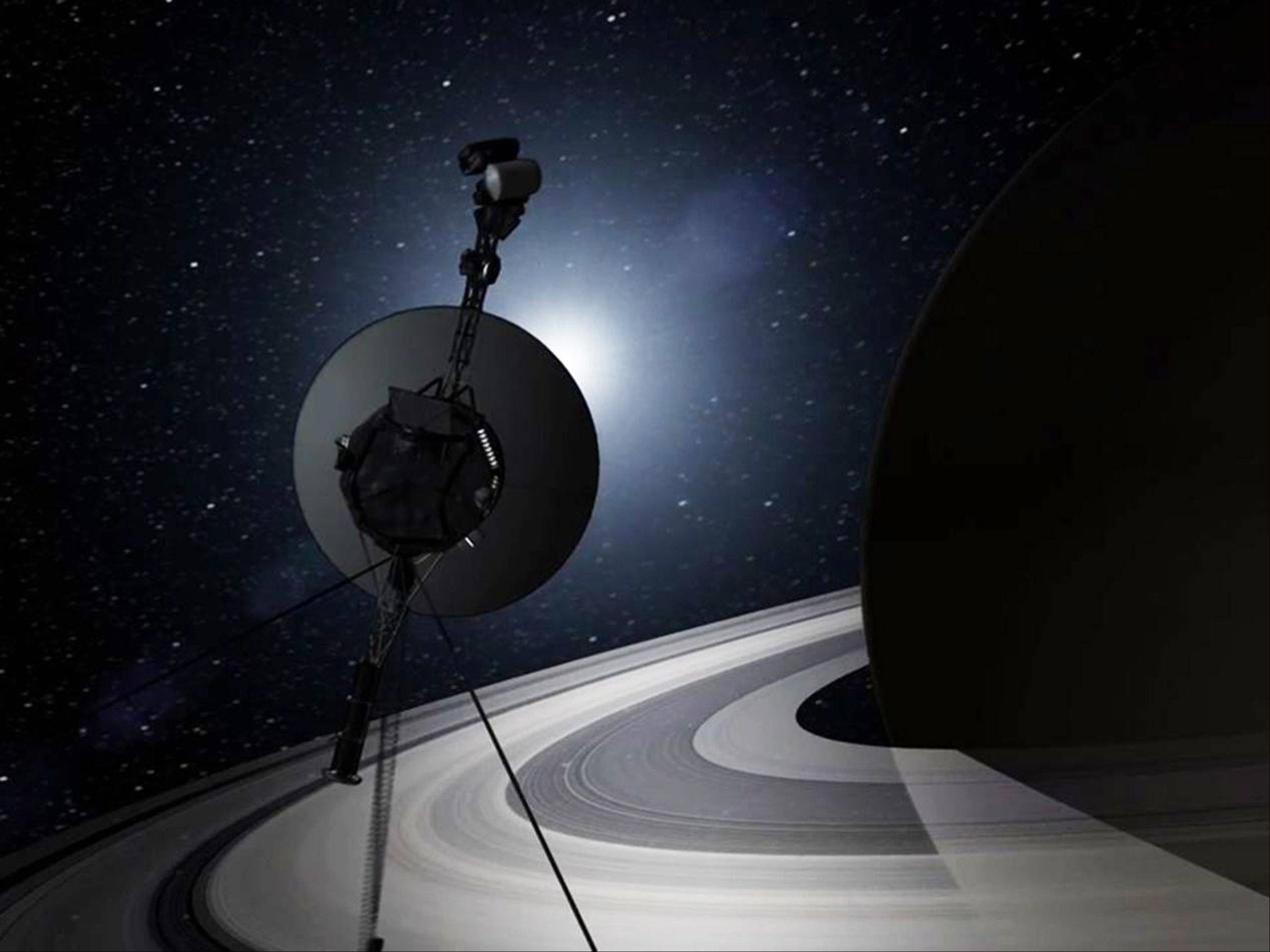 This artist's rendering provided by NASA shows the Voyager spacecraft.