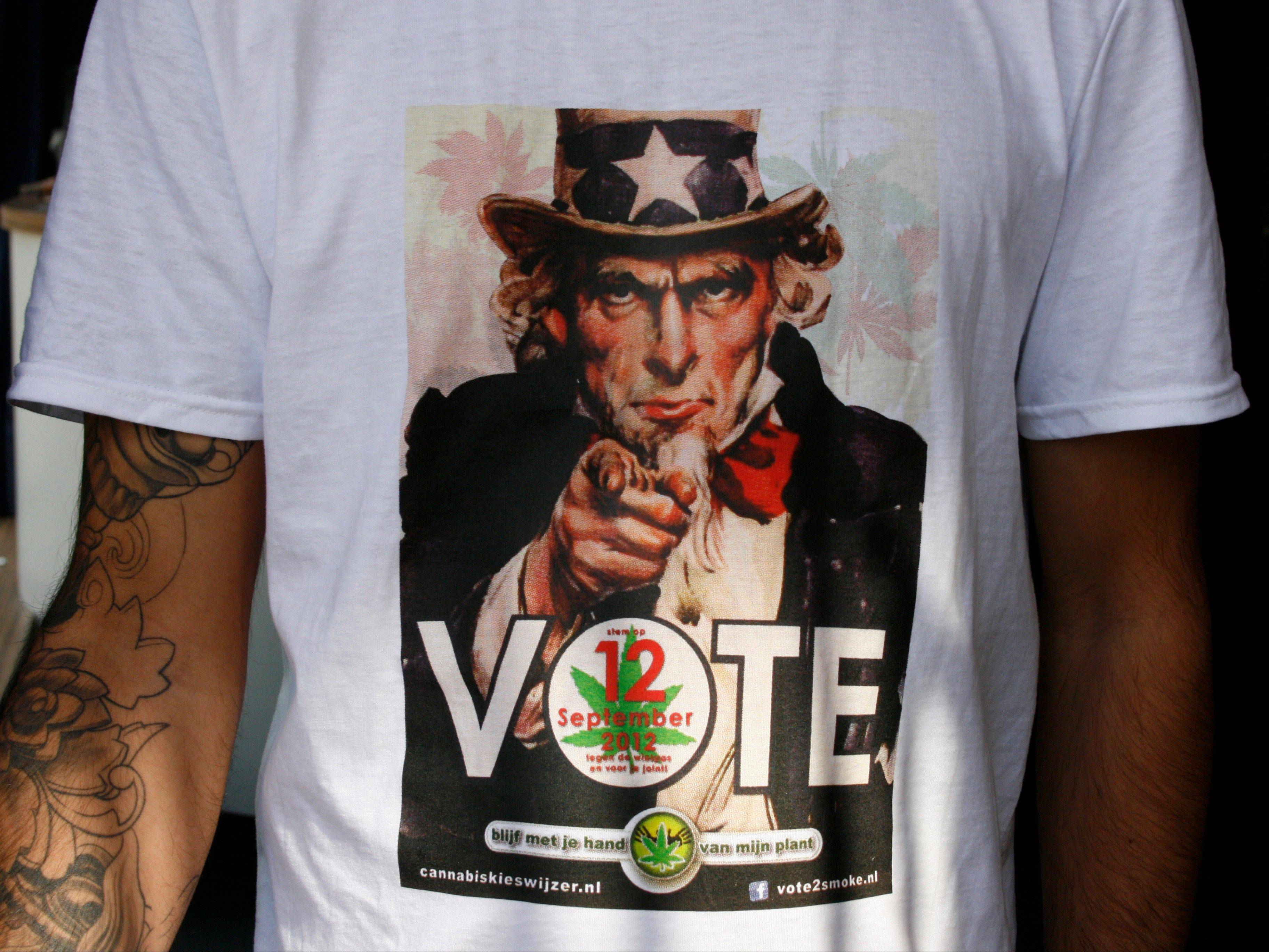 "Owners of the freewheeling cafes where bags of hashish are sold alongside cups of coffee are mounting a get-out-the-stoner-vote campaign to encourage the drugged up stoned voters ahead of next week's Dutch election. The campaigners are calling on their sometimes apathetic dope smoking clientele to get out and support political parties that oppose the recently introduced ""weed pass"" that is intended to rein in the cafes."