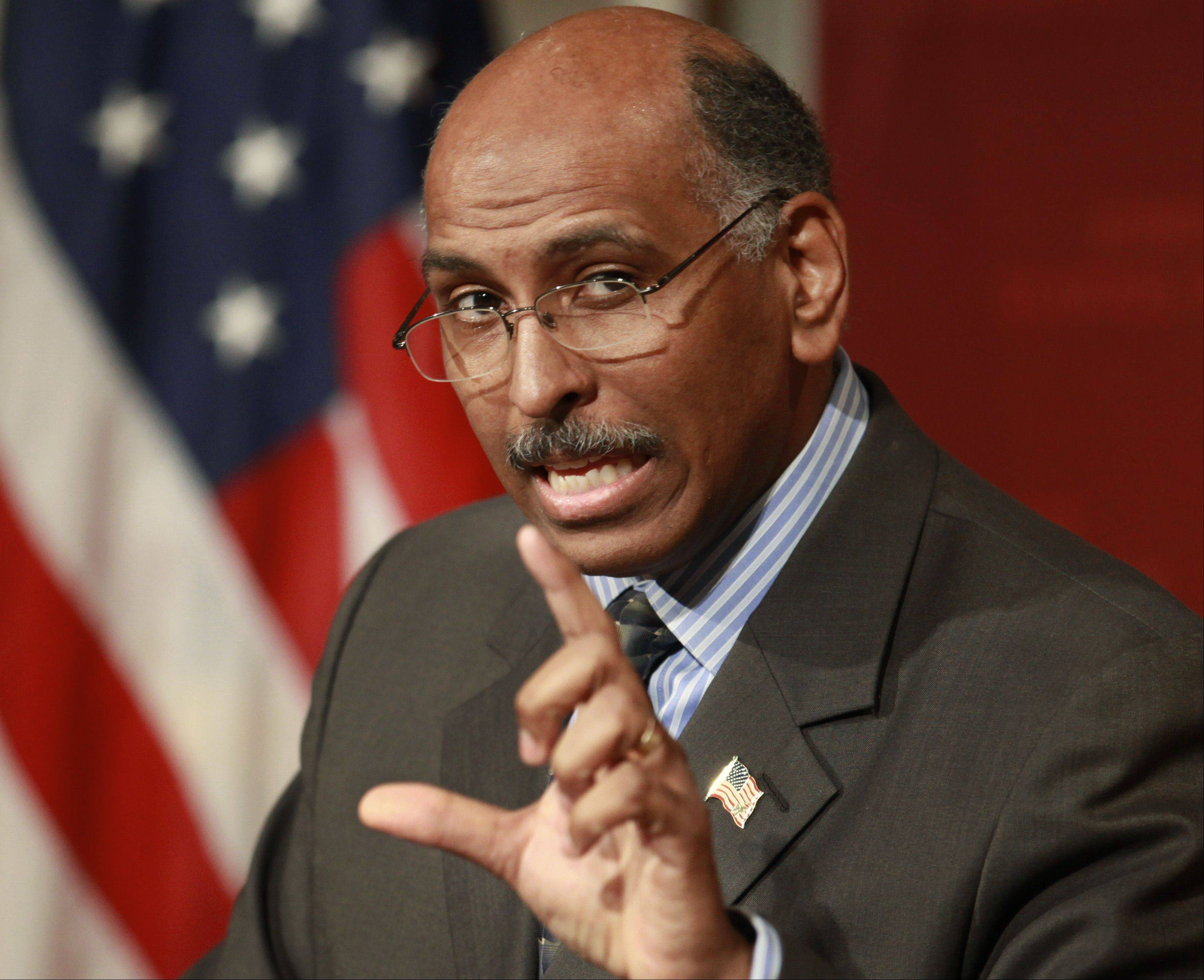 Michael Steele, the former chairman of the Republican Party, will speak Wednesday, Sept. 19, as part of Benedictine University's Presidential Election Series.