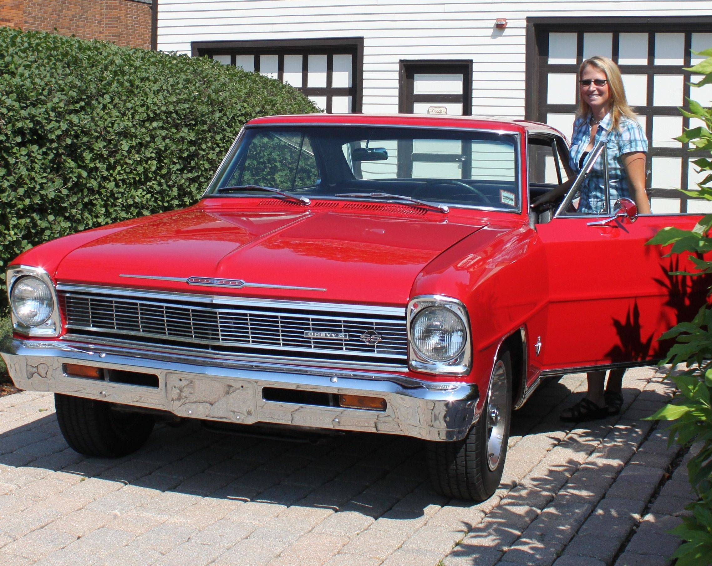 Kristina Christie and her beloved 1966 Chevy II Nova SS.