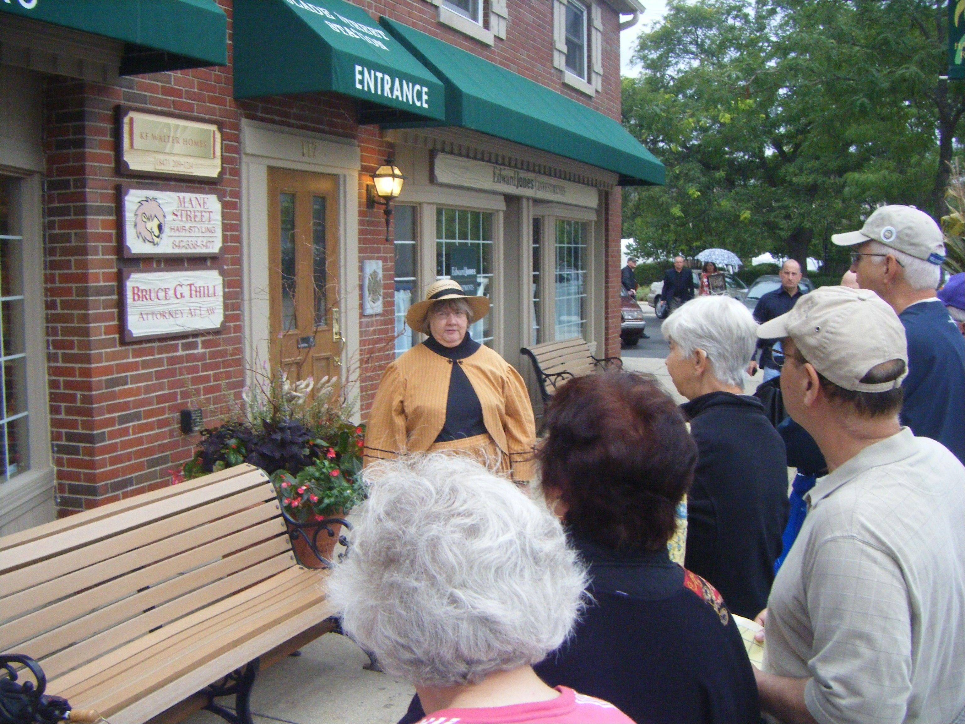 A costumed actor shares the history of Palatine at the first Palatine Historical Society's History Crawl. The second annual History Crawl is being held from 5:30-8:30 p.m. Friday, Sept. 7. For information, contact Marilyn Pedersen, (847) 991-6460 or mpedersen@palatineparks.org.