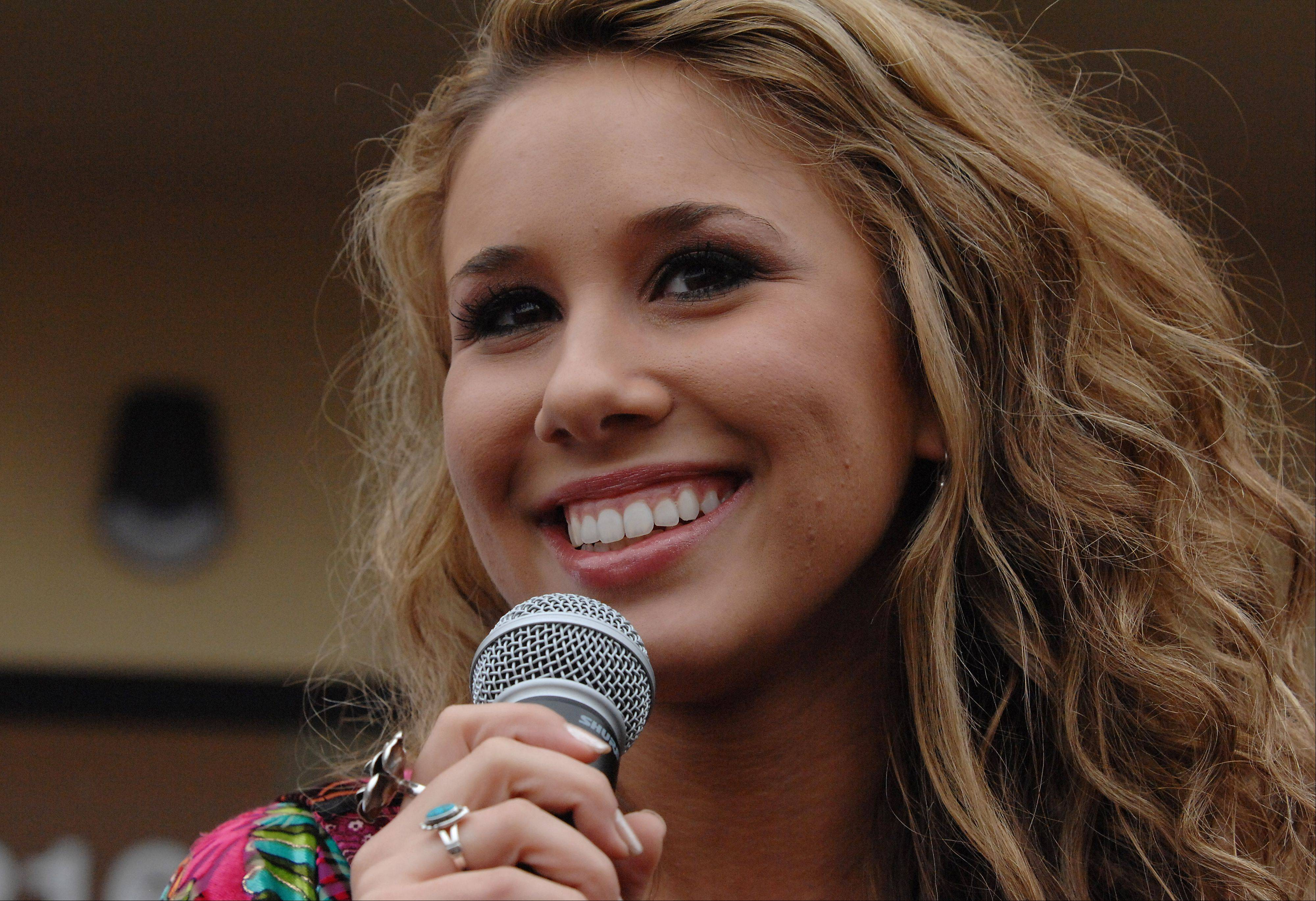 Haley Reinhart during a visit to Wheeling last year.