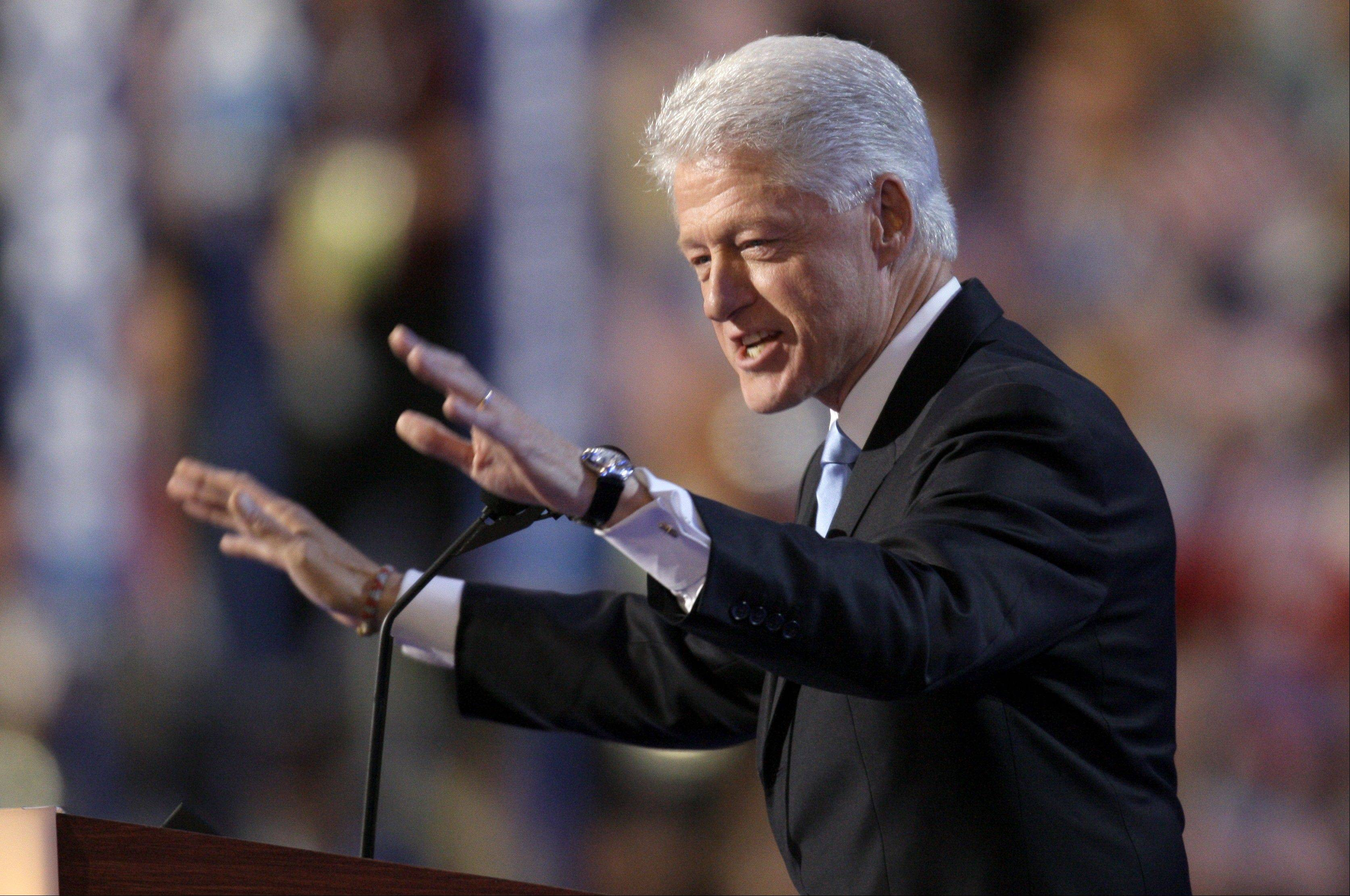 Former President Bill Clinton speaks at the Democratic National Convention in Denver in 2008.