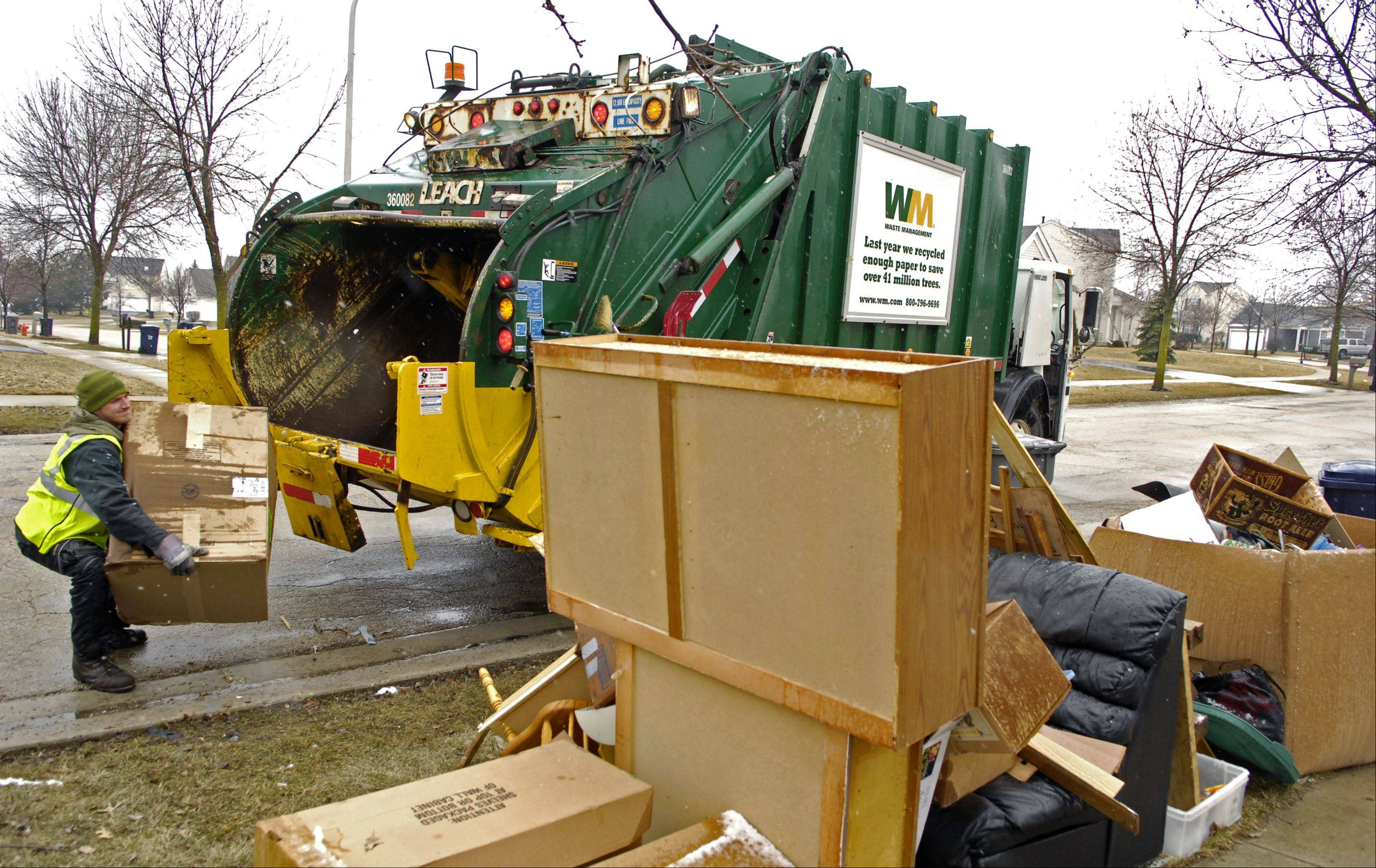 Rolling Meadows is one of only a few Northwest suburbs that does not currently outsource its garbage collection, like here in Elgin.