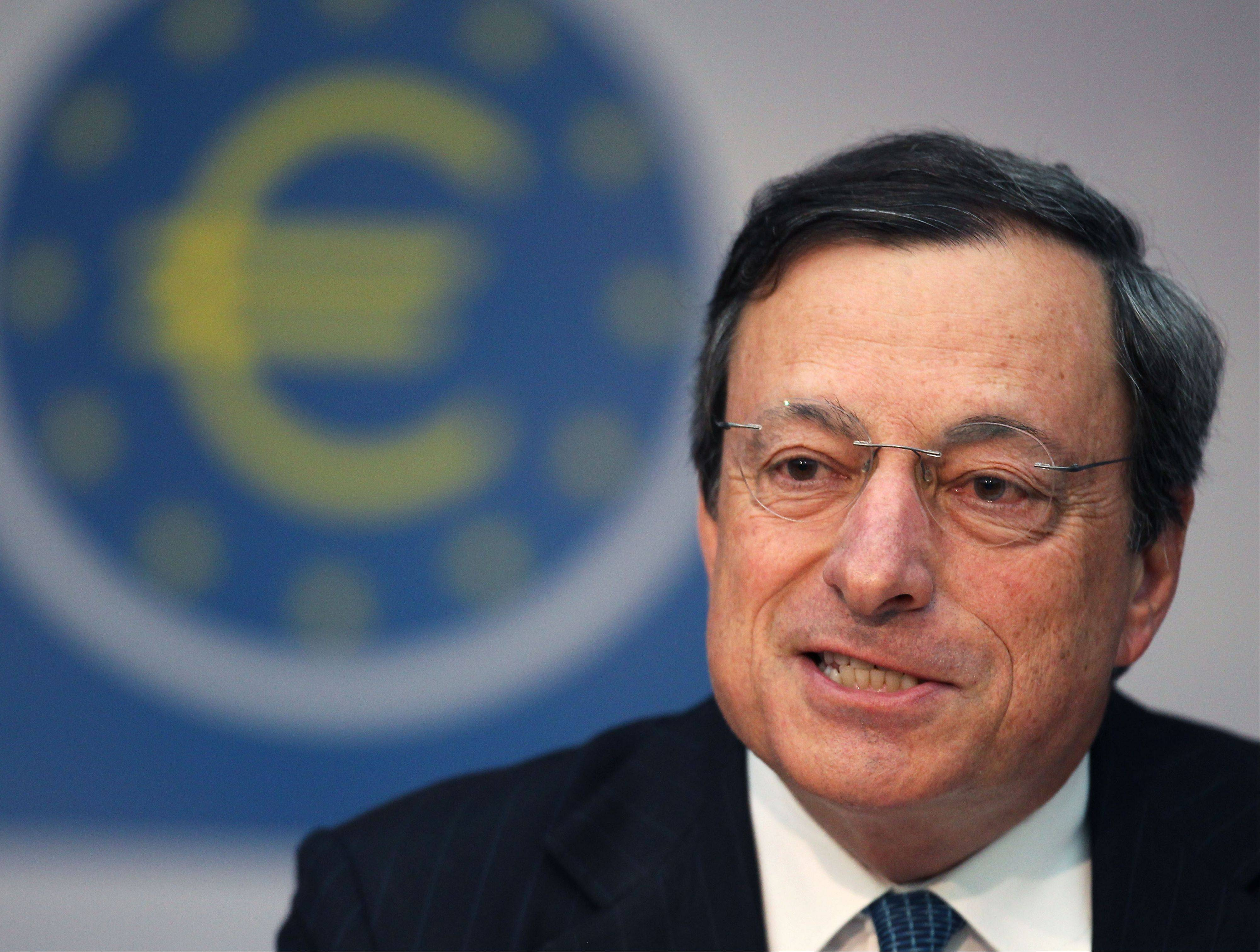 "European Central Bank Mario Draghi gets another chance Thursday, Sept. 6, 2012. to spell out how the bank intends to rescue the 17 countries that use the euro from financial disaster. Expectations have been high since late July when the ECB head vowed to do ""whatever it takes"" to hold the eurozone together."