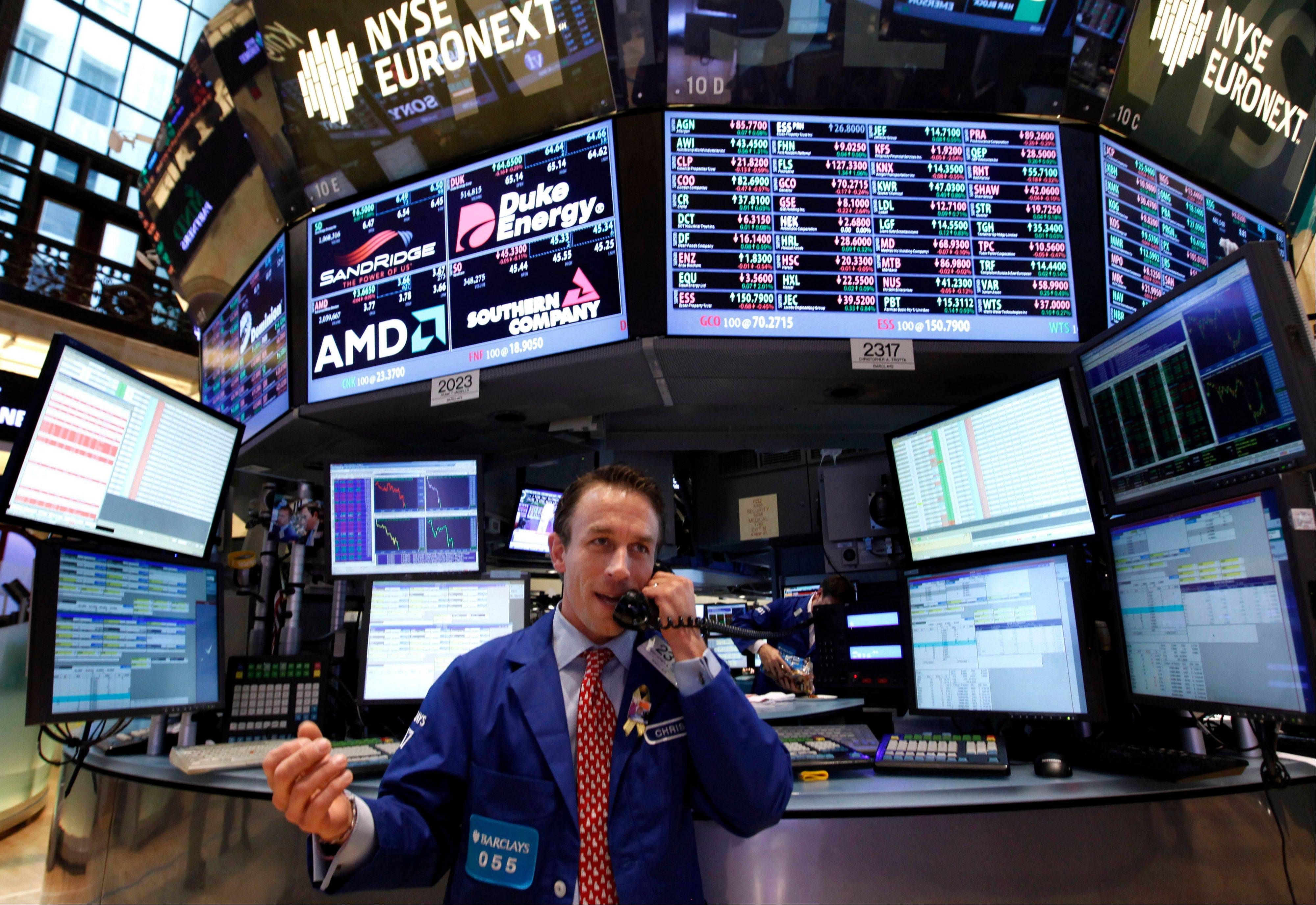 Most U.S. stocks fell, sending the Standard & Poor's 500 Index lower for a second day, amid a slump in FedEx Corp. and disappointing global economic data as investors awaited the European Central Bank's plan to buy bonds.