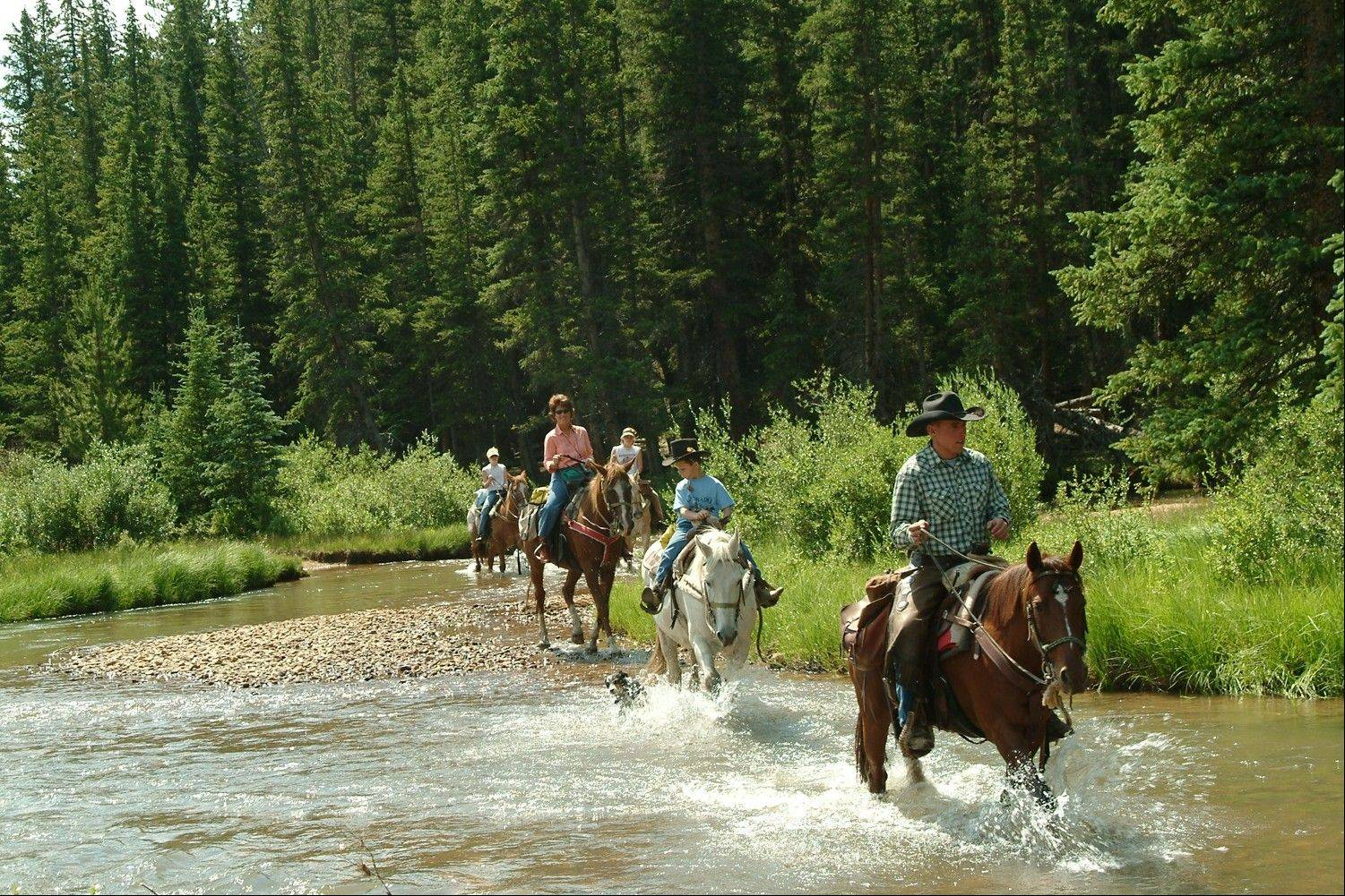Tumbling River Ranch in Grant, Colo., offers traditional dude ranch activities like horseback riding, fly-fishing, swimming, rodeos and white-water rafting.
