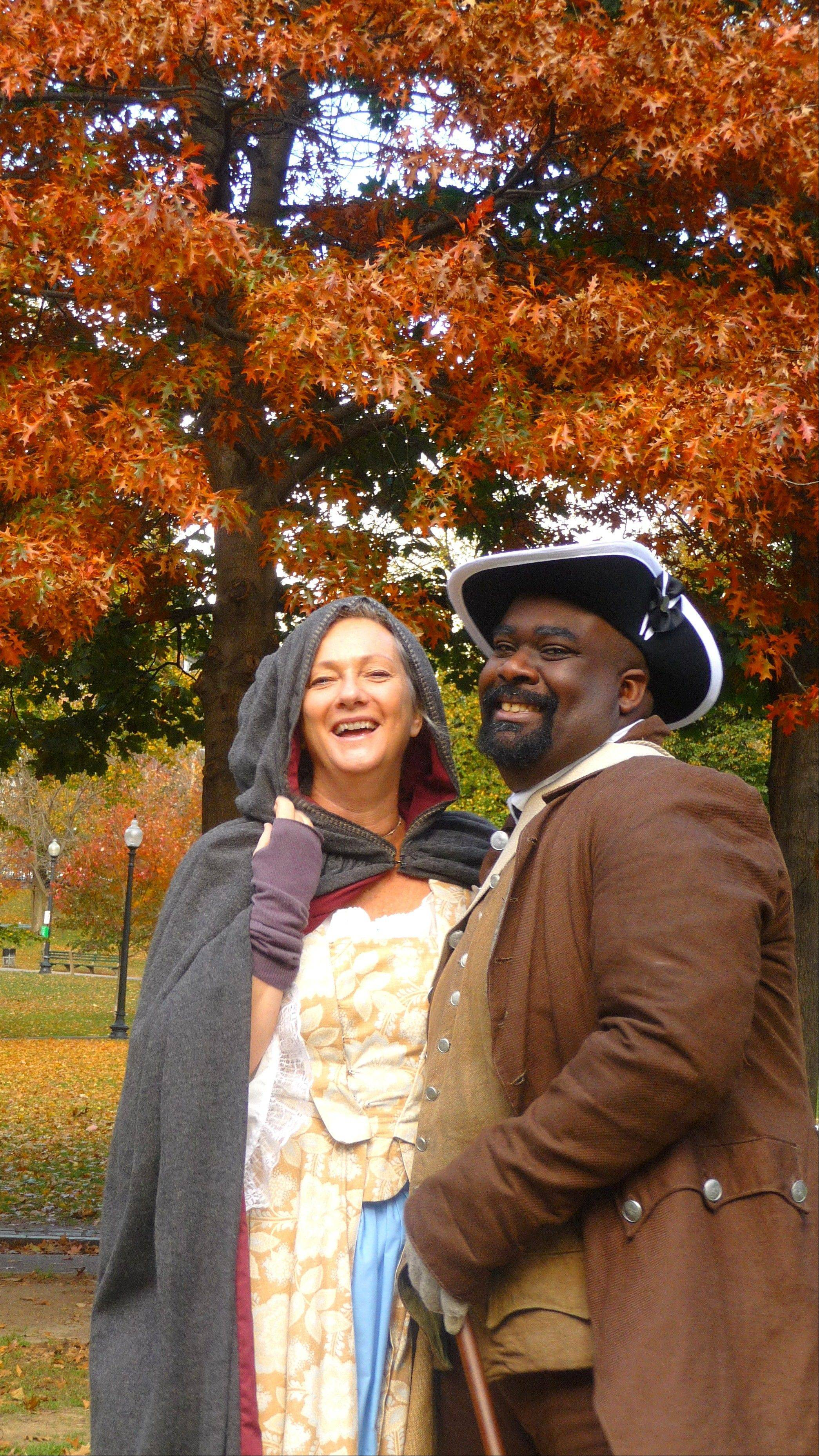 Boston Common and the Freedom Trail Foundation offer 18th century guides to show off the fall foliage beauty.