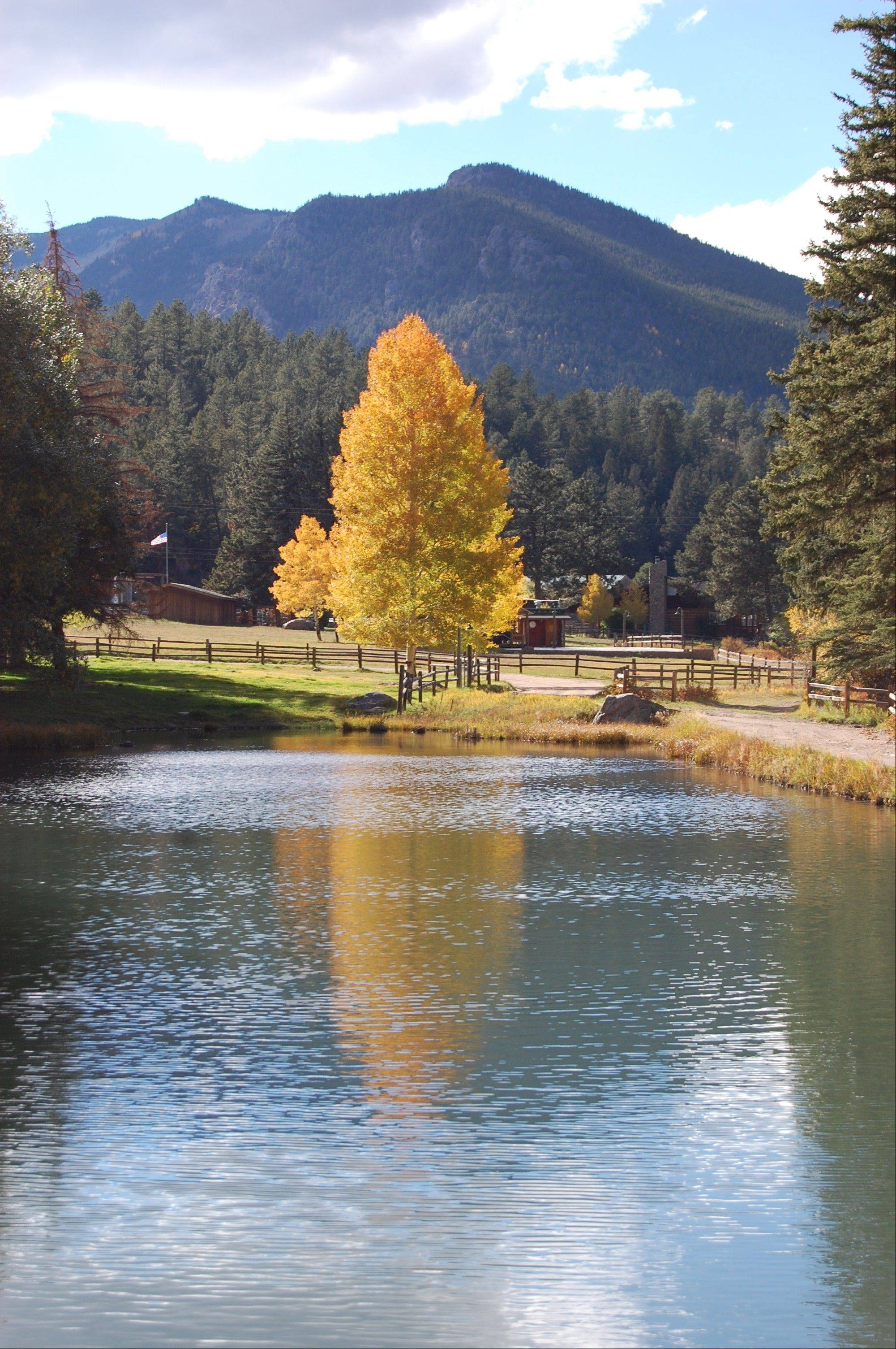 North Fork Ranch and Fishing Lodge in Shawnee, Colo., offers great views along with outdoor activities such as zip-lining, fly-fishing and mountain biking.
