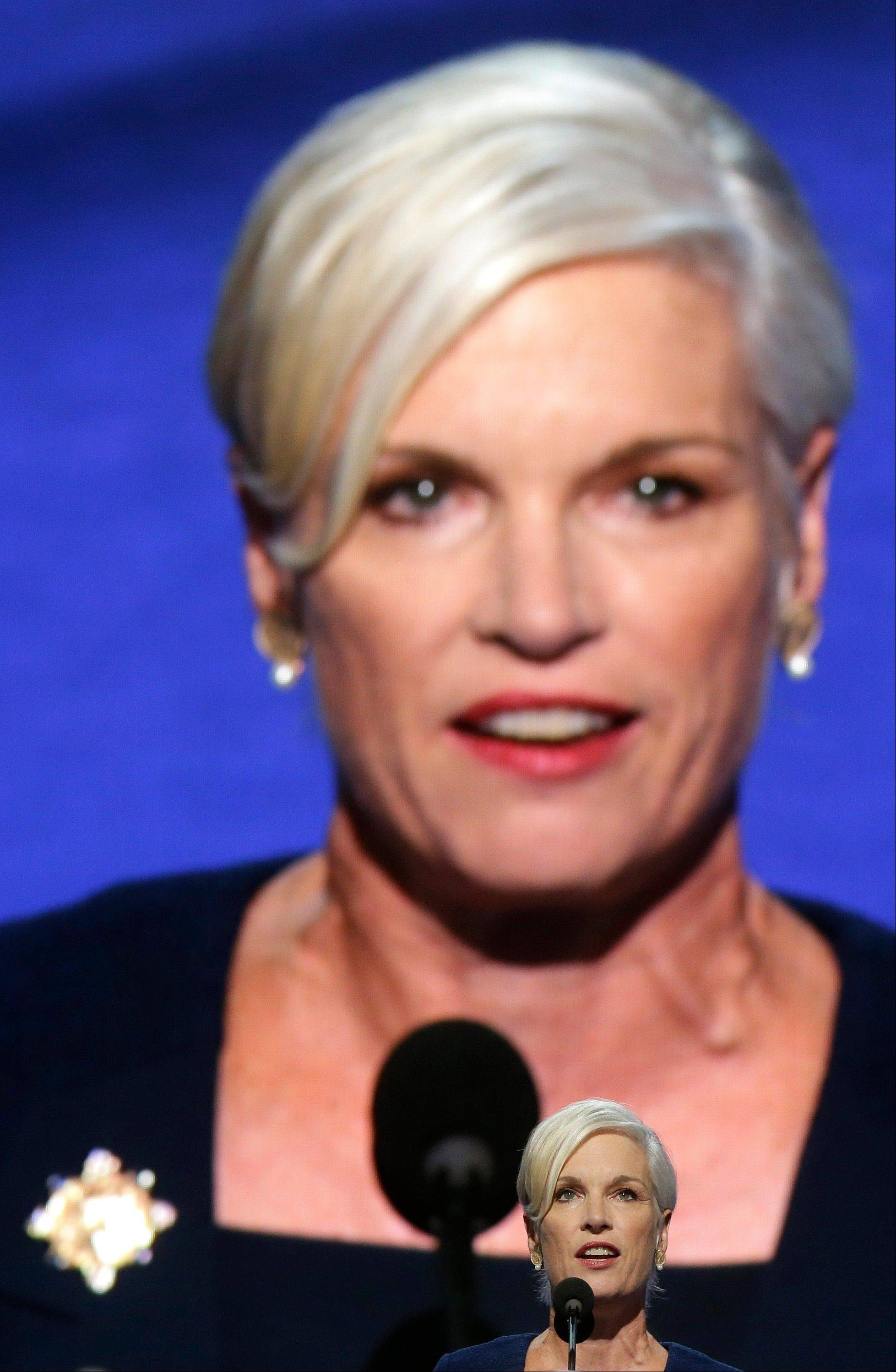 President of Planned Parenthood Action Fund Cecile Richards addresses the Democratic National Convention in Charlotte, N.C., on Wednesday, Sept. 5, 2012.