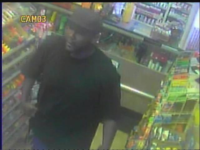 The man in this photo is accused of robbing a clerk of the Fiesta Food Mart in Aurora at knife point Aug. 22.