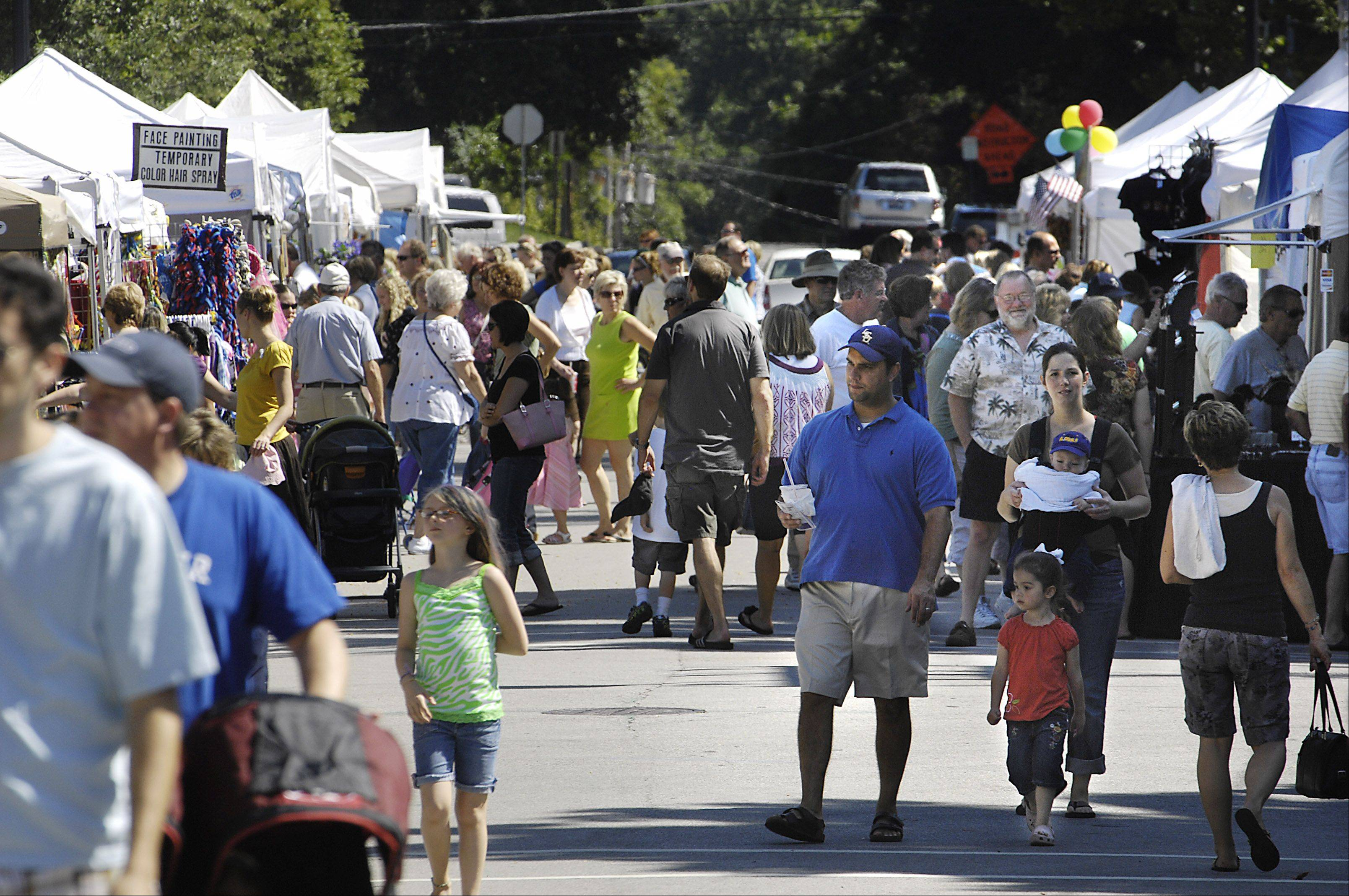 Geneva's Festival of the Vine always draws a good crowd for the food and wine sampling, entertainment and arts and crafts show.