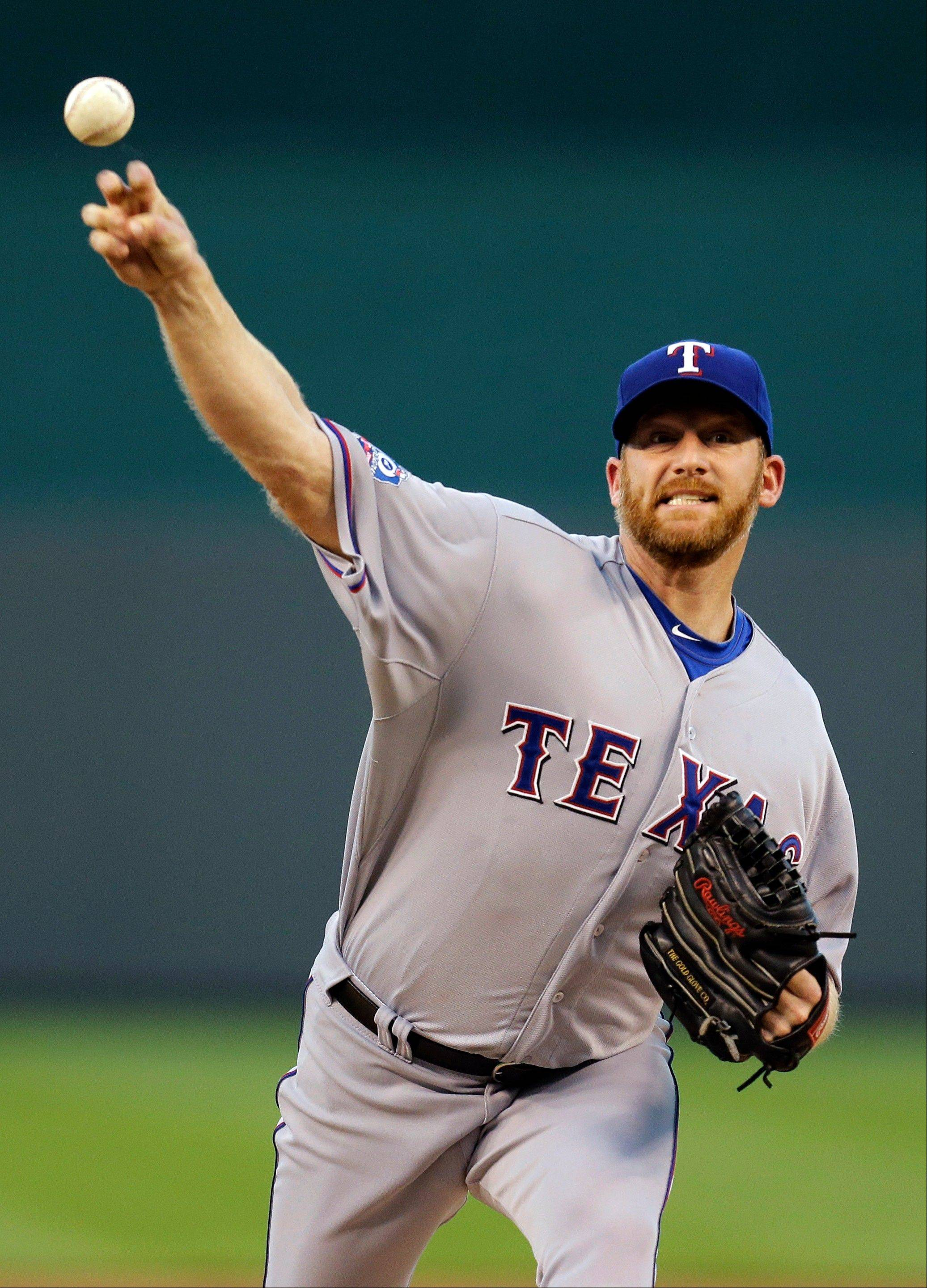 Texas Rangers starting pitcher Ryan Dempster struck out eight Wednesday in Kansas City to win his fourth consecutive game.