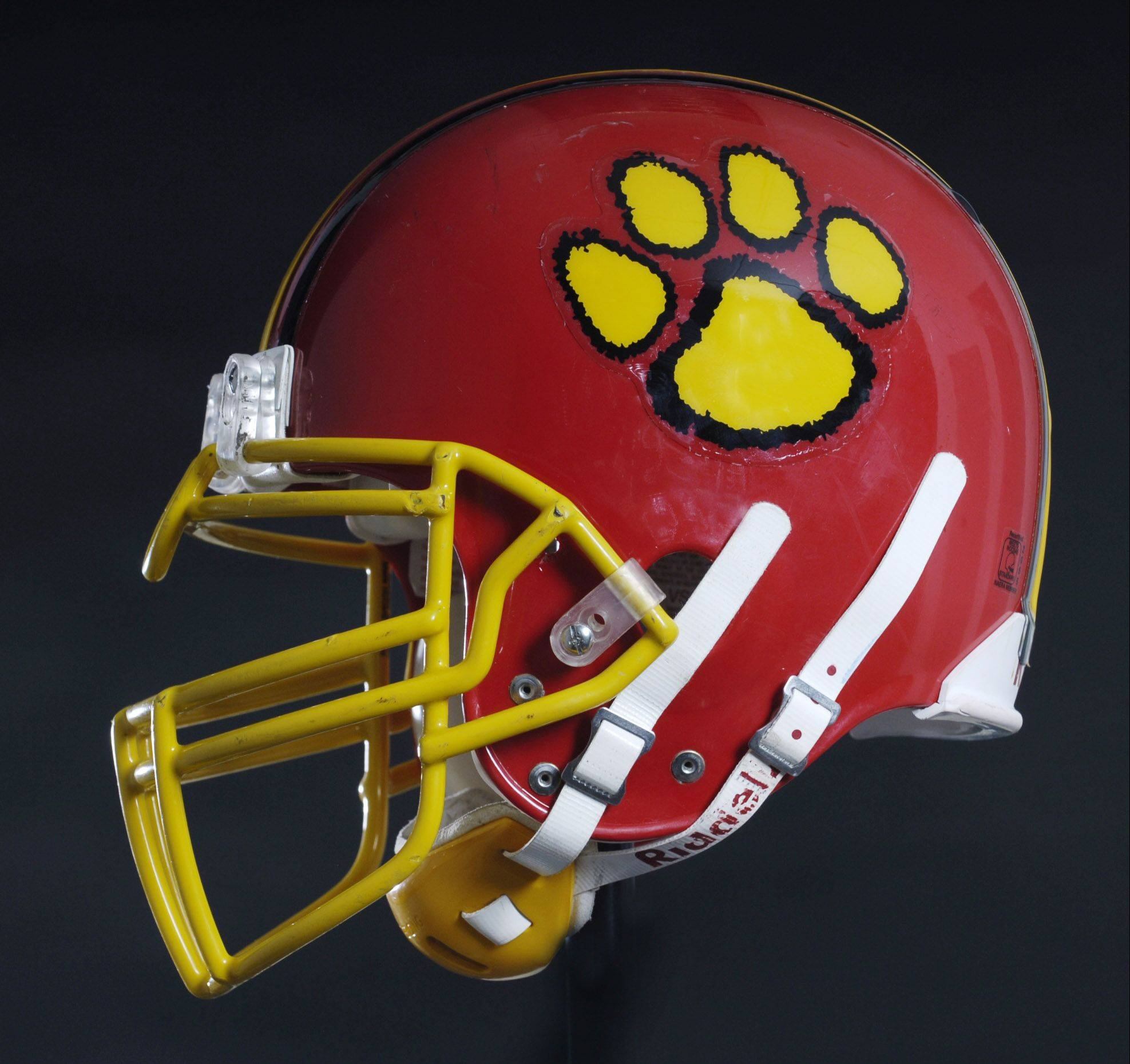 helmets_2ps092005RW photo0444592 Rick West tri ///// Batavia HS football helmet.