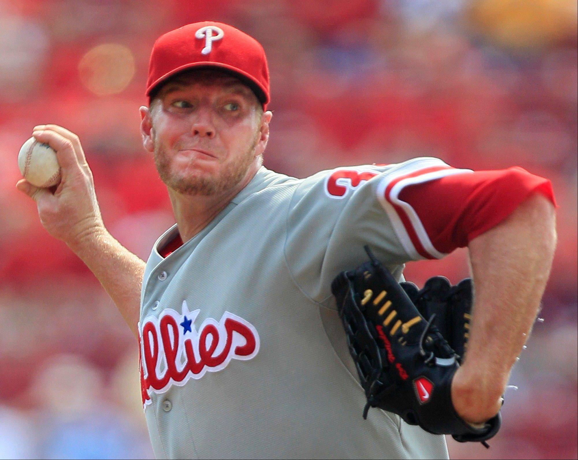 Philadelphia Phillies starting pitcher Roy Halladay is 110-0 when he is staked to a lead of at least four runs.